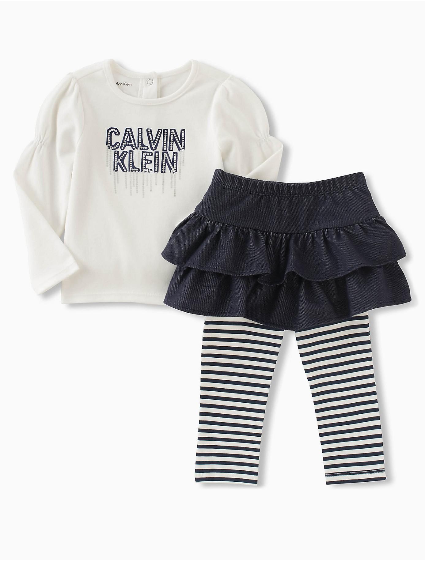 Lyst Calvin Klein Baby Girls Top Skirt Legging Set