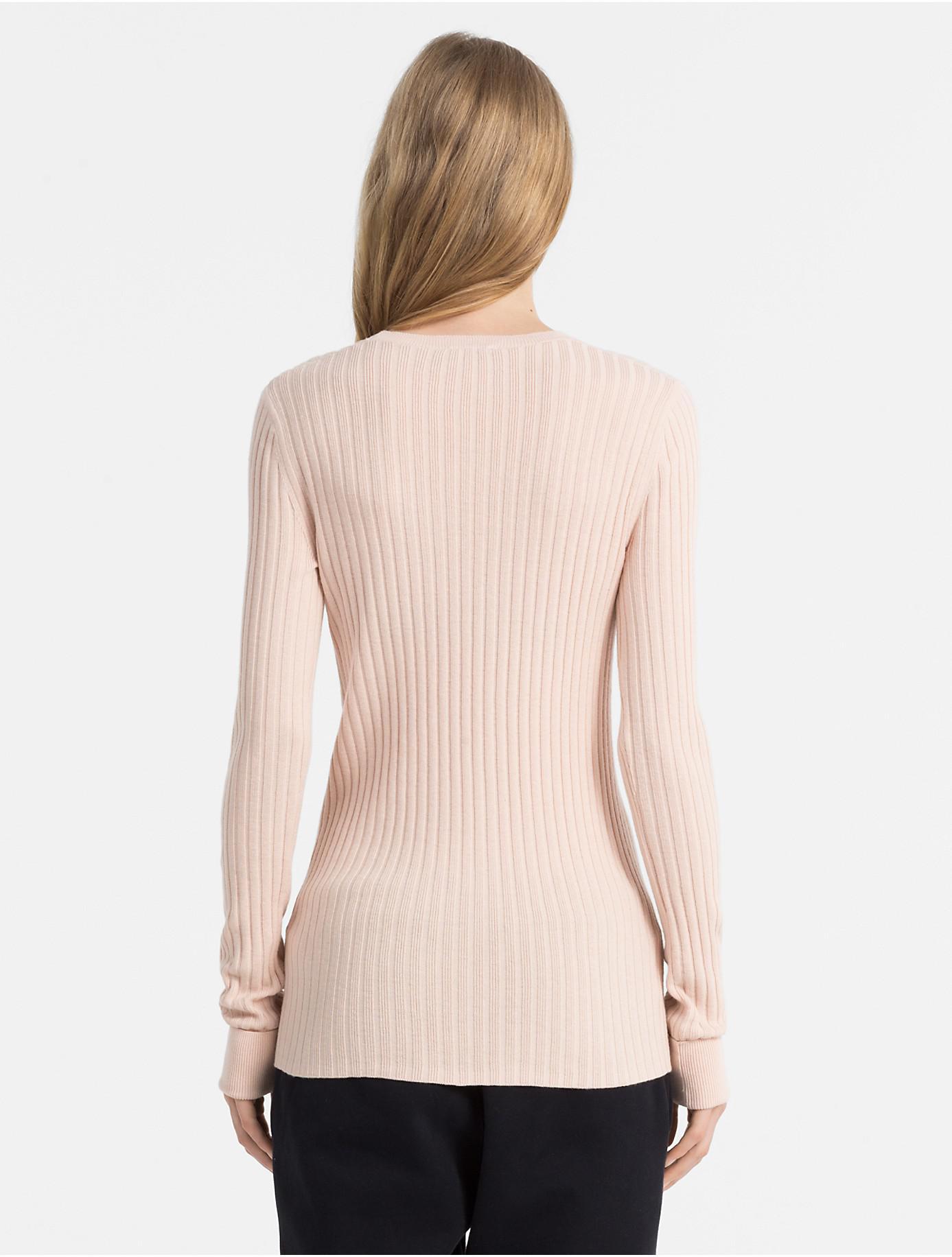 e46379eccf8e Lyst - Calvin Klein Slim Fit Cotton Silk Rib Sweater