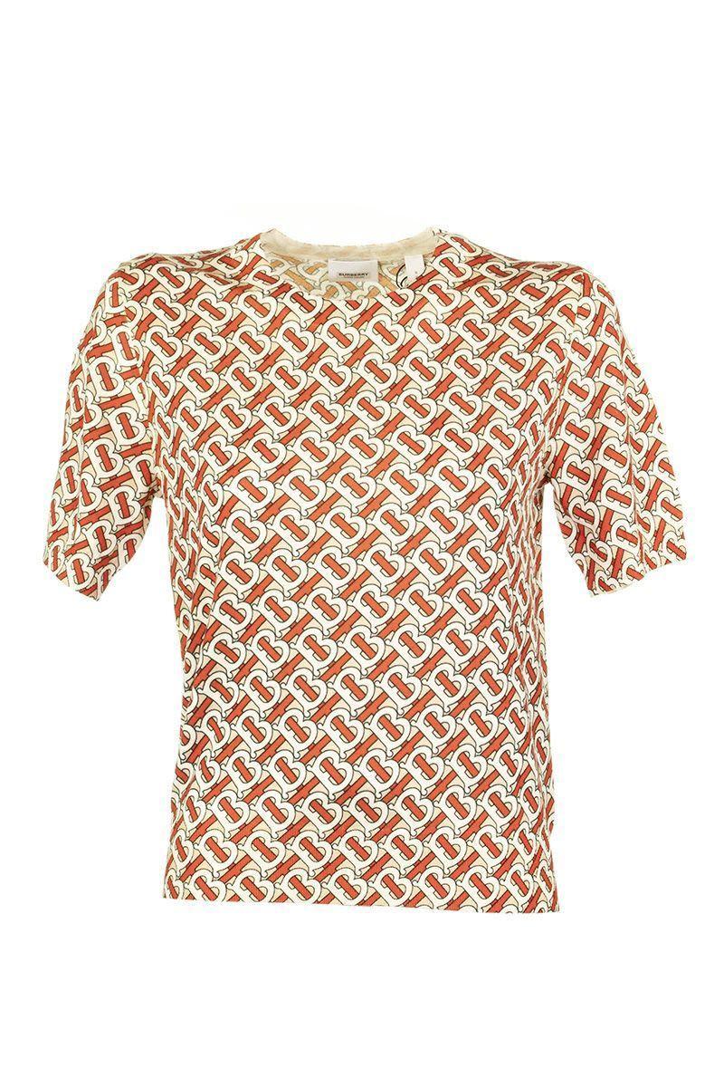 0705fb4d6 Burberry Seea Monogram Print Merino Wool Top - Lyst