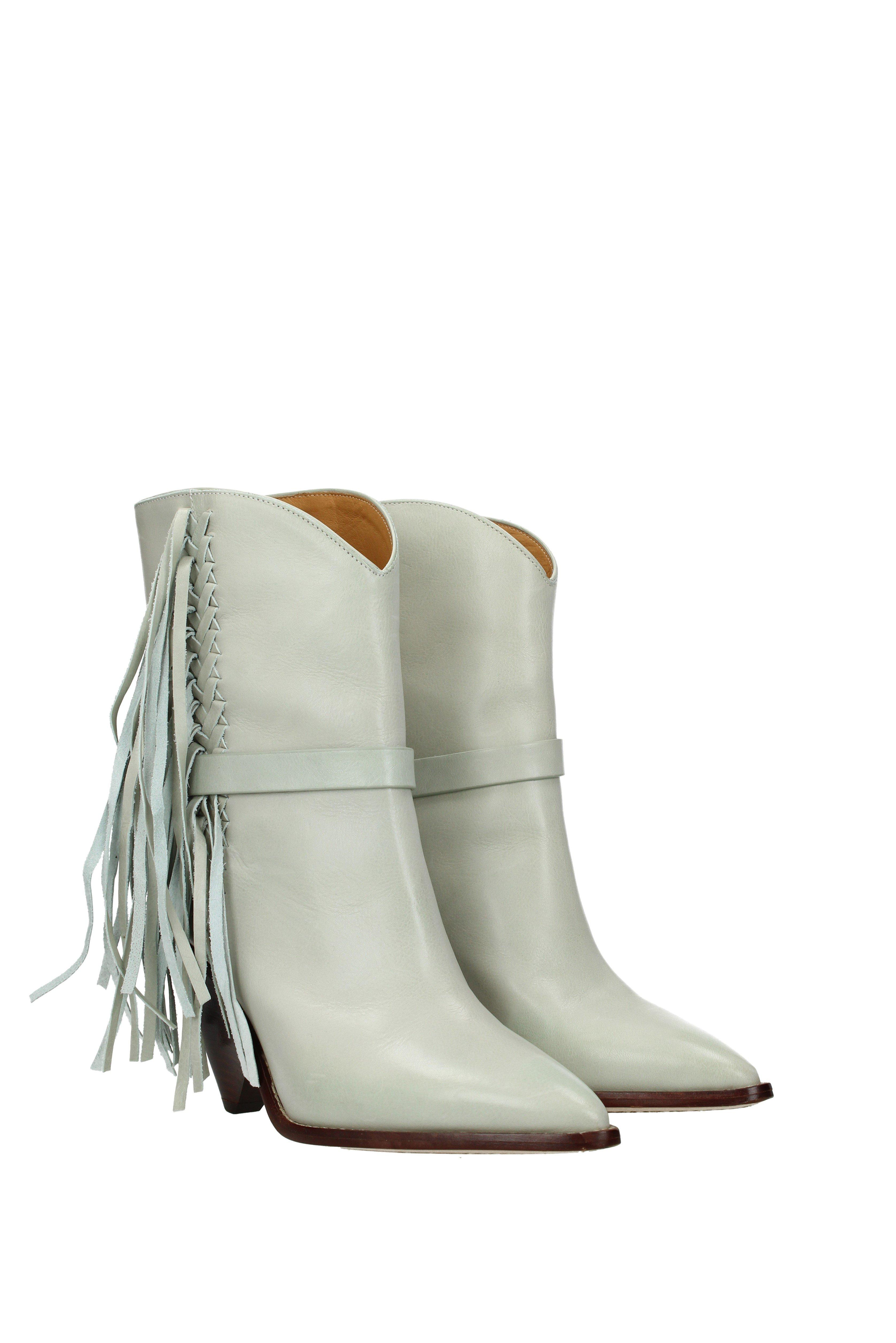 2a209f159a1 Isabel Marant Ankle Boots Loffen Women Gray - Lyst