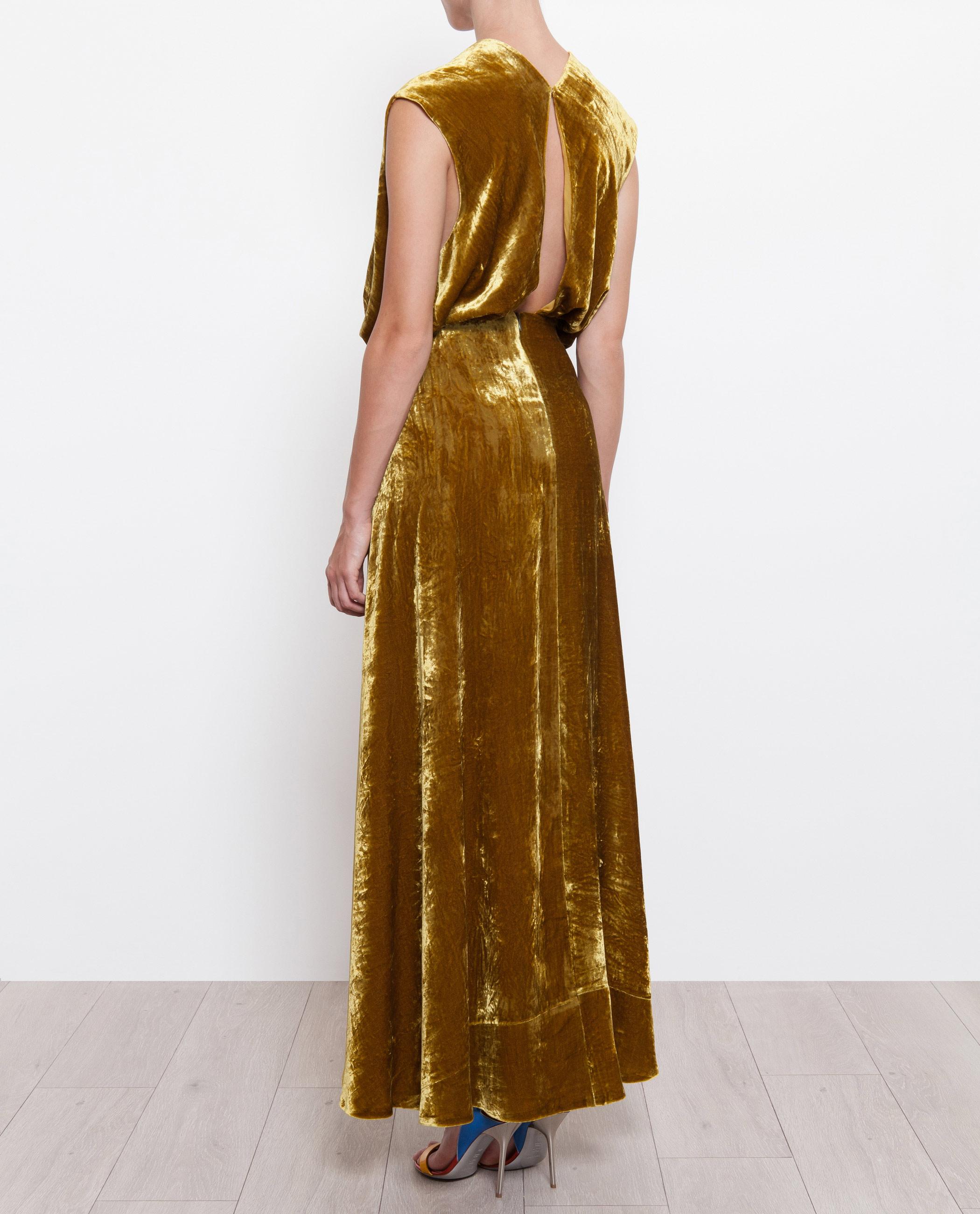 Awake Velvet Gown in Metallic - Lyst