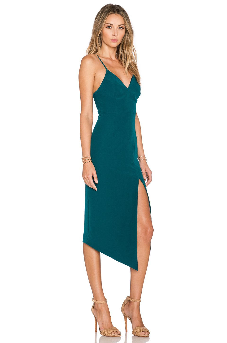Sleeve blue midi cocktail dress young