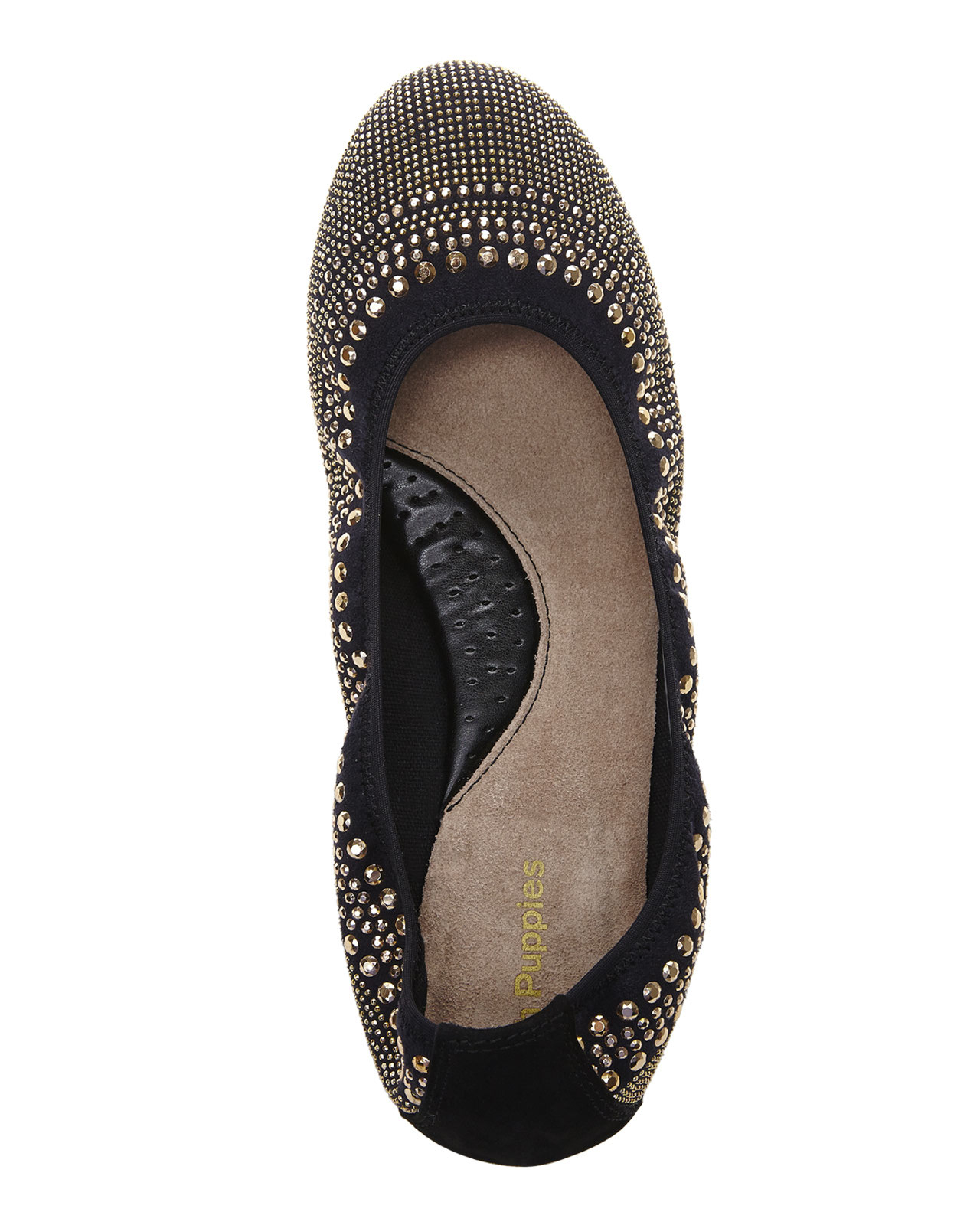 Lyst Hush Puppies Gold Amp Black Chaste Ballet Flats In