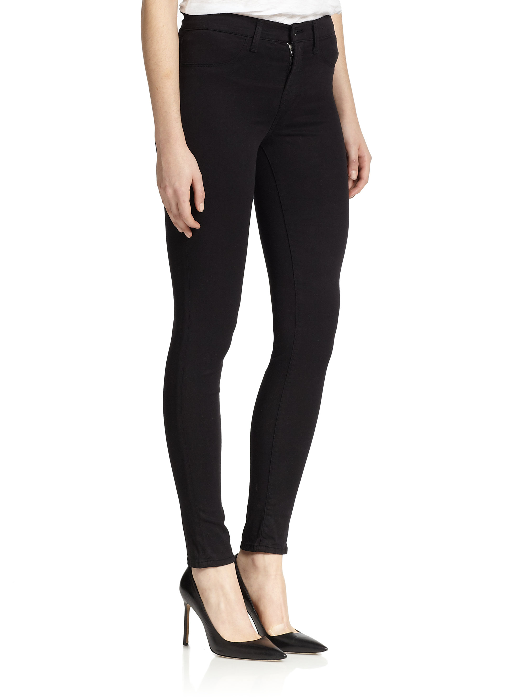 J brand mid rise luxe sateen skinny jeans