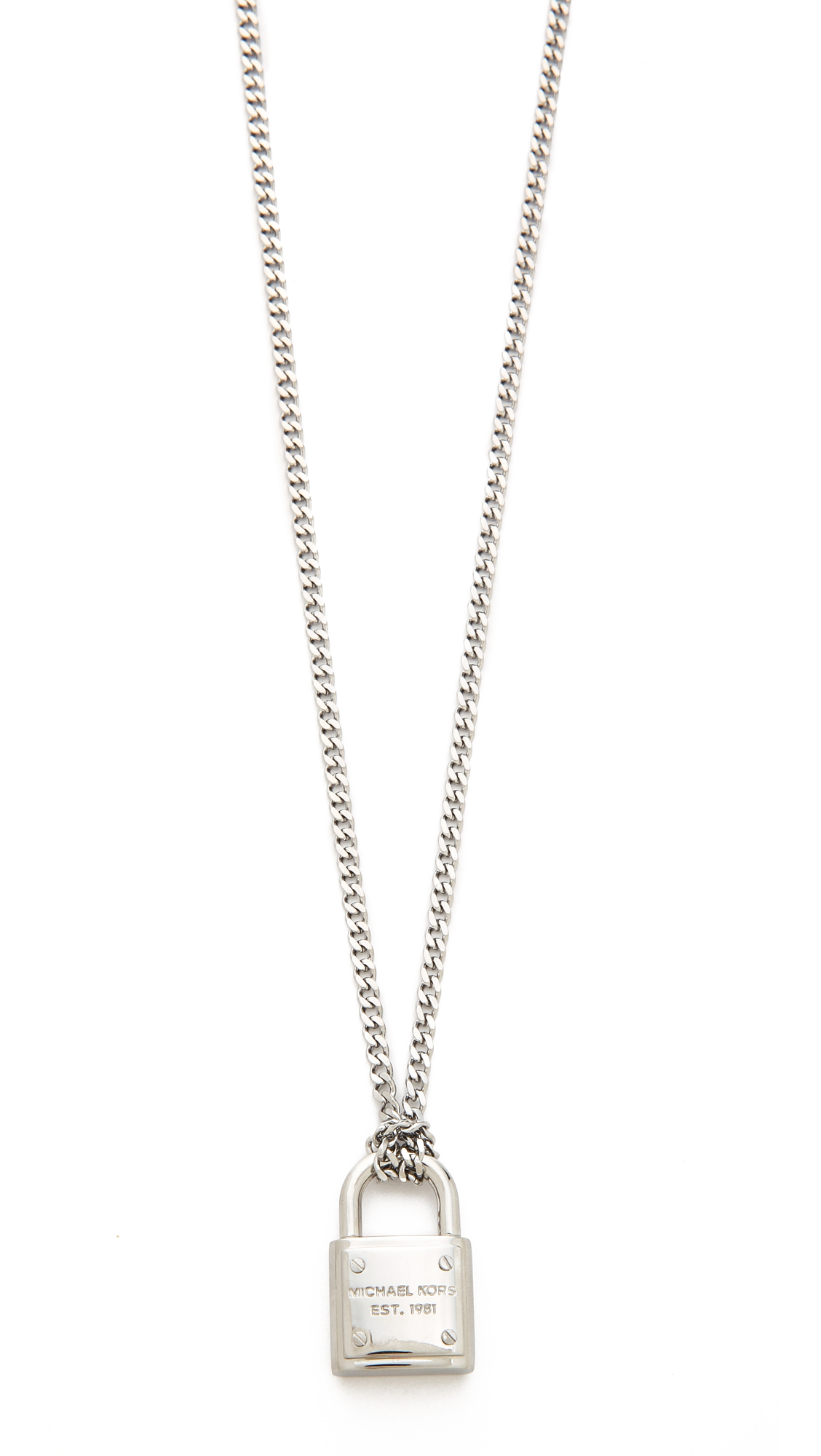 aba06b30de10e Gallery. Previously sold at  Shopbop · Women s Padlock Necklaces Women s  Michael Kors ...