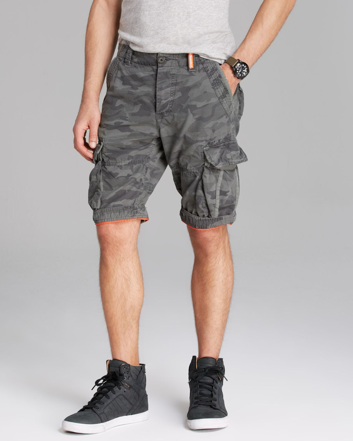 a105427f6e Superdry Camo Ripstop Lite Cargo Shorts in Gray for Men - Lyst