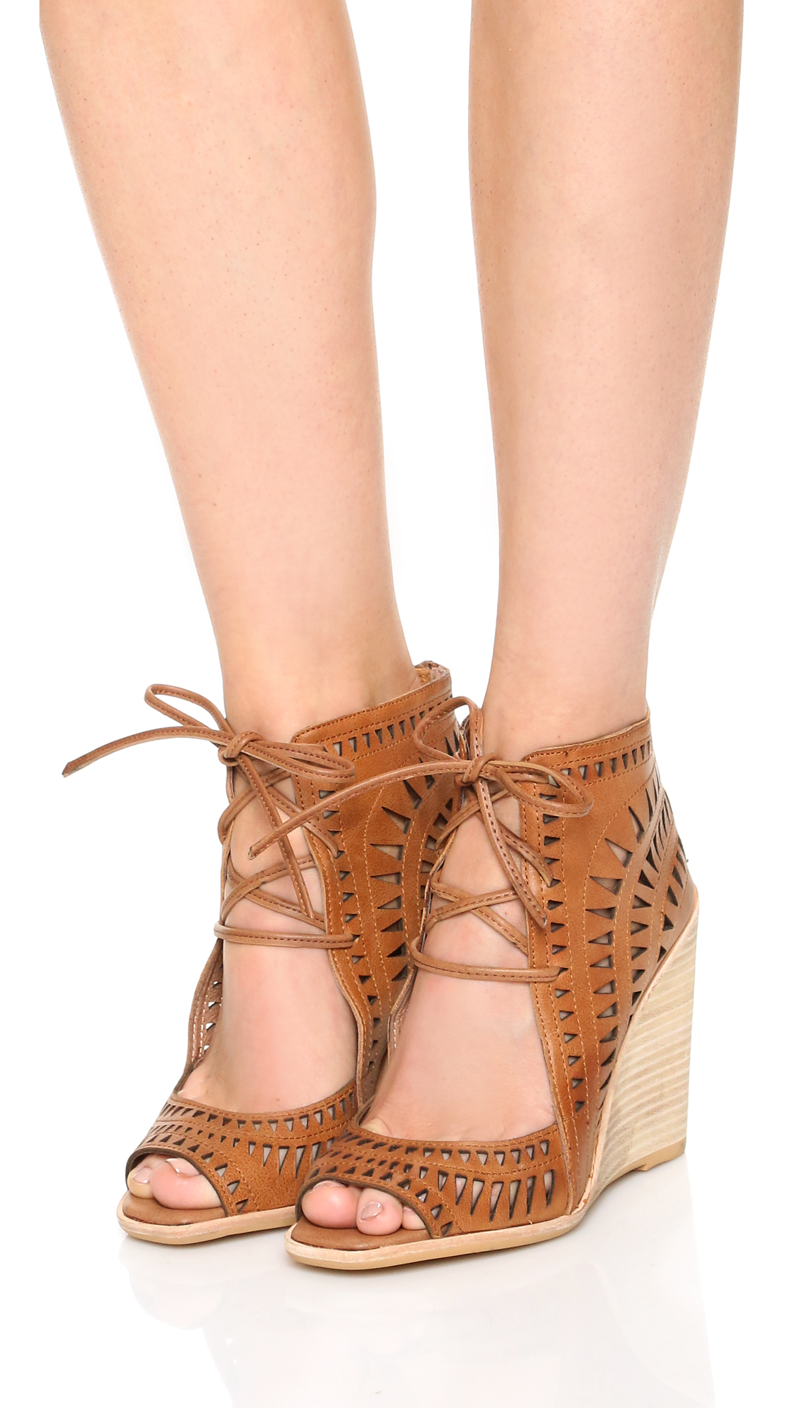 Lyst Jeffrey Campbell Rodillo Wedge Sandals In Brown