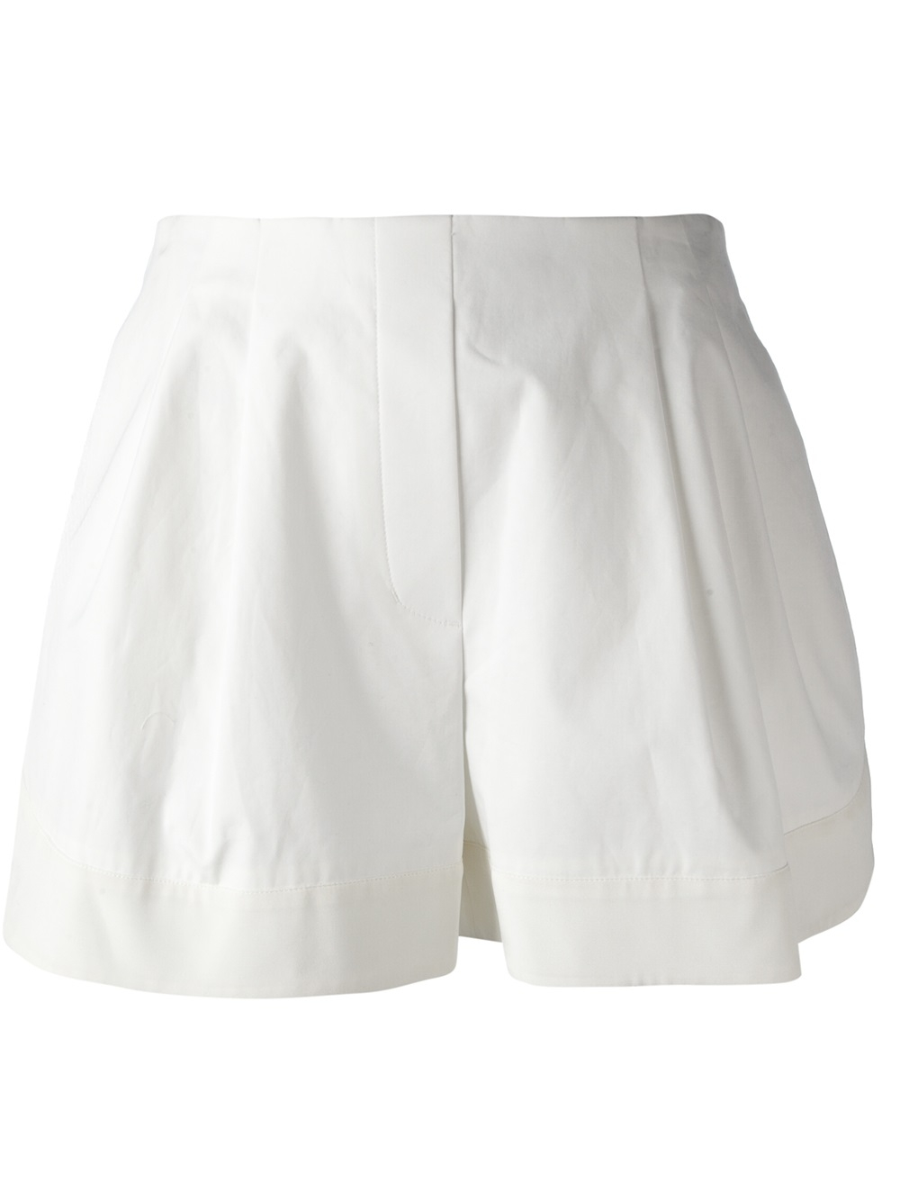 3.1 phillip lim Loose Fit Shorts in White | Lyst