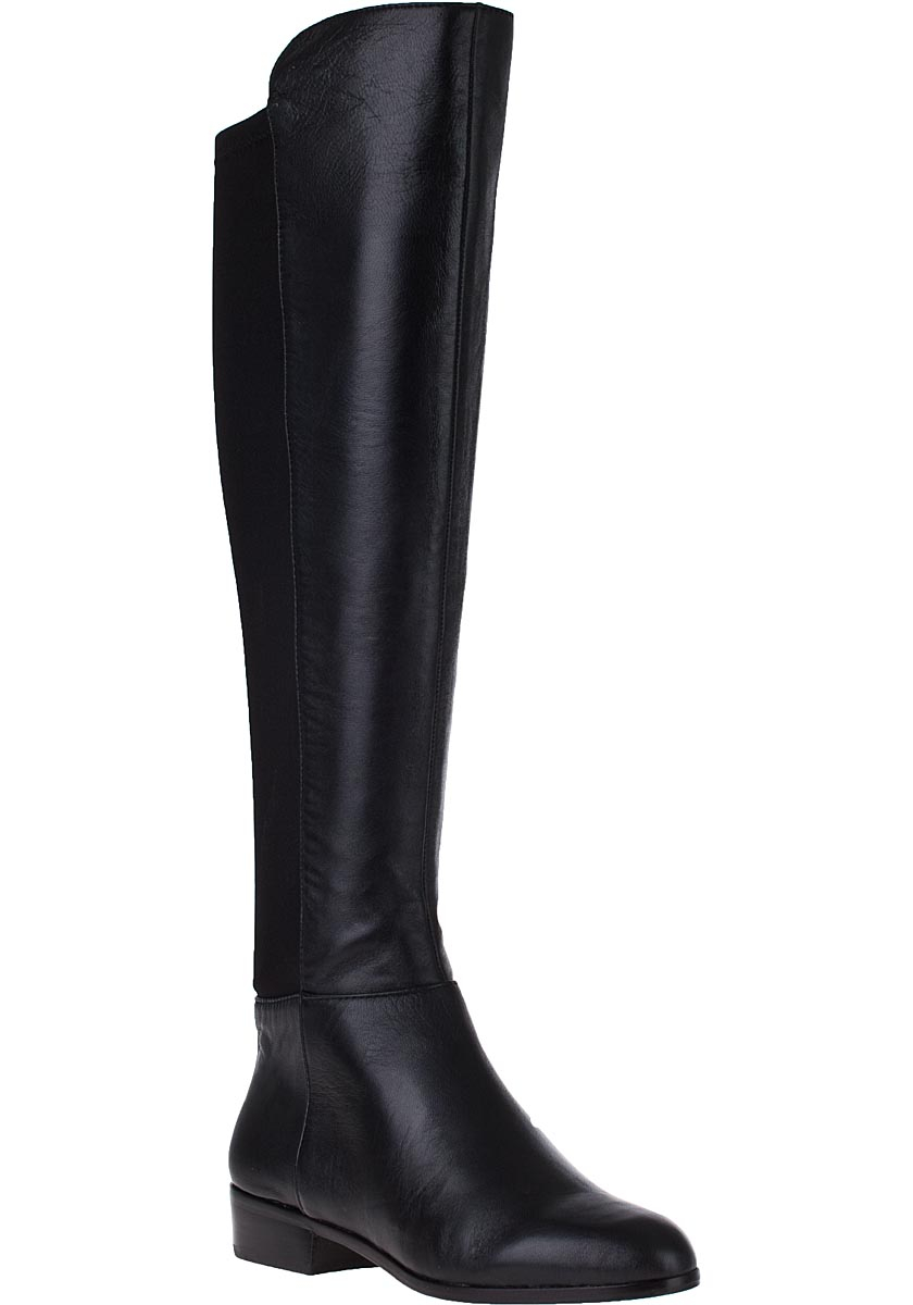 Michael michael kors Bromley Flat Tall Boot Black Leather in Black ...