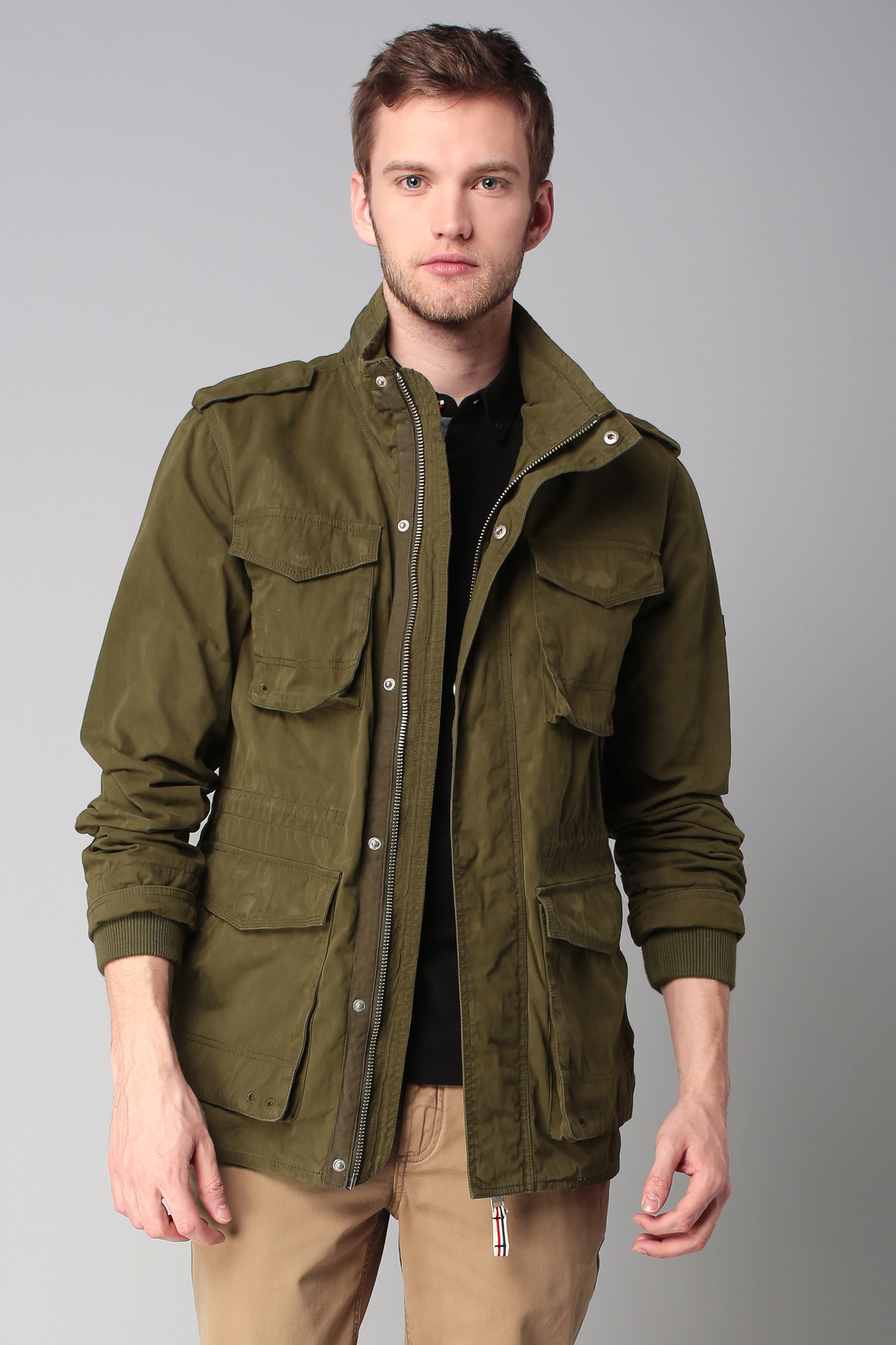 lyst hilfiger denim parka in green for men. Black Bedroom Furniture Sets. Home Design Ideas