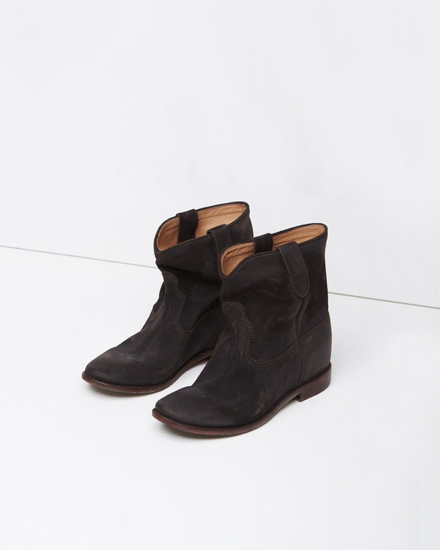 toile isabel marant crisi suede slouchy boots in black lyst. Black Bedroom Furniture Sets. Home Design Ideas