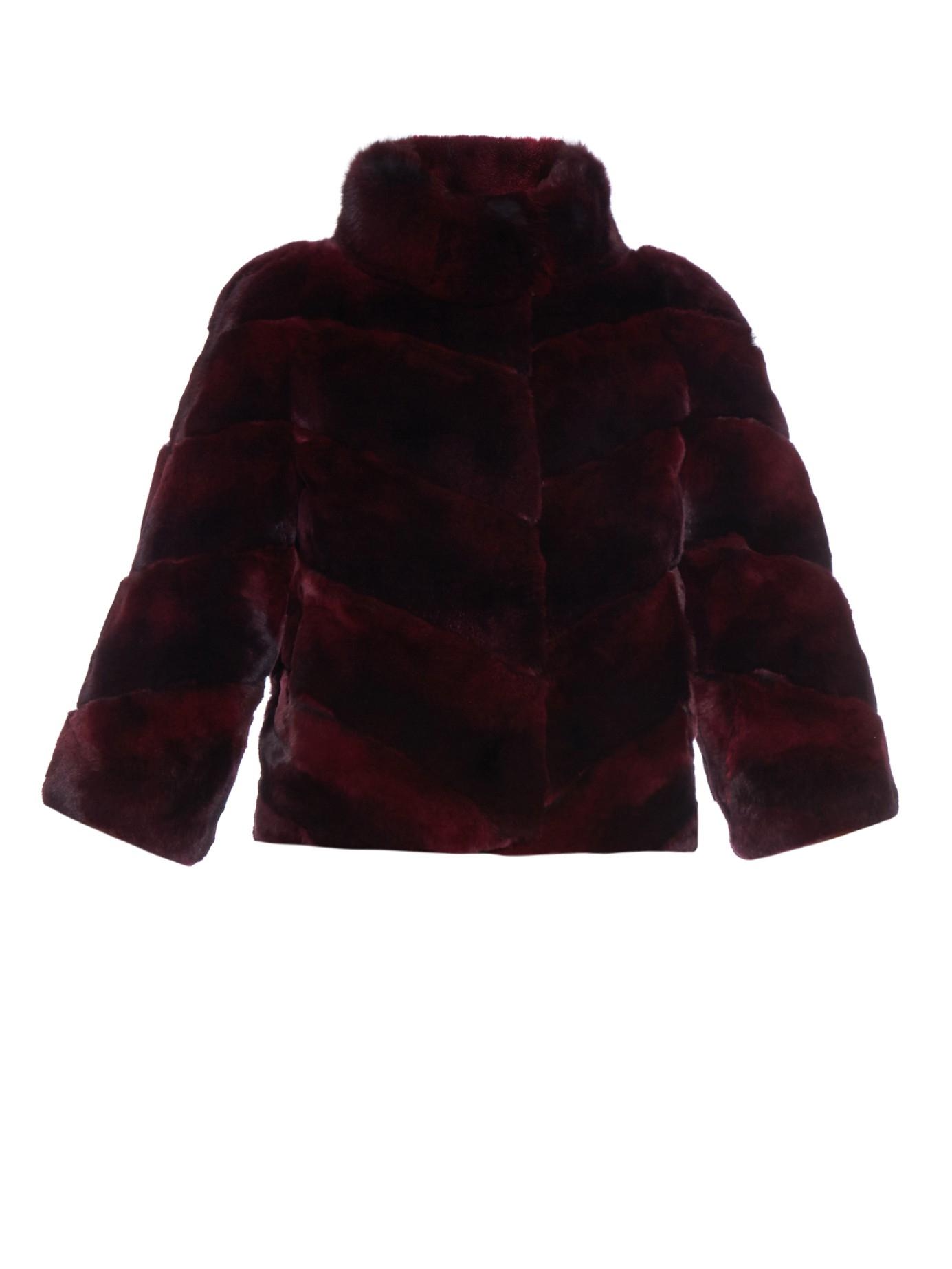 37cb091be1bc Lyst - Diane von Furstenberg Eve Ombré Fur Jacket in Purple