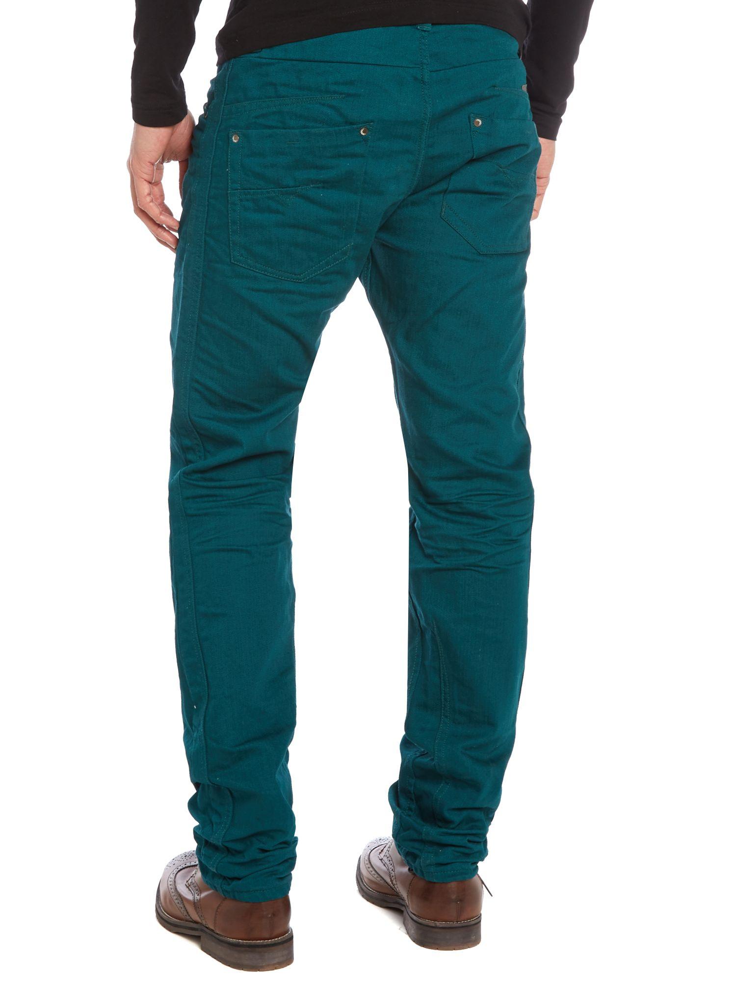 diesel darron 8qu regular slim fit jeans in blue for men lyst. Black Bedroom Furniture Sets. Home Design Ideas