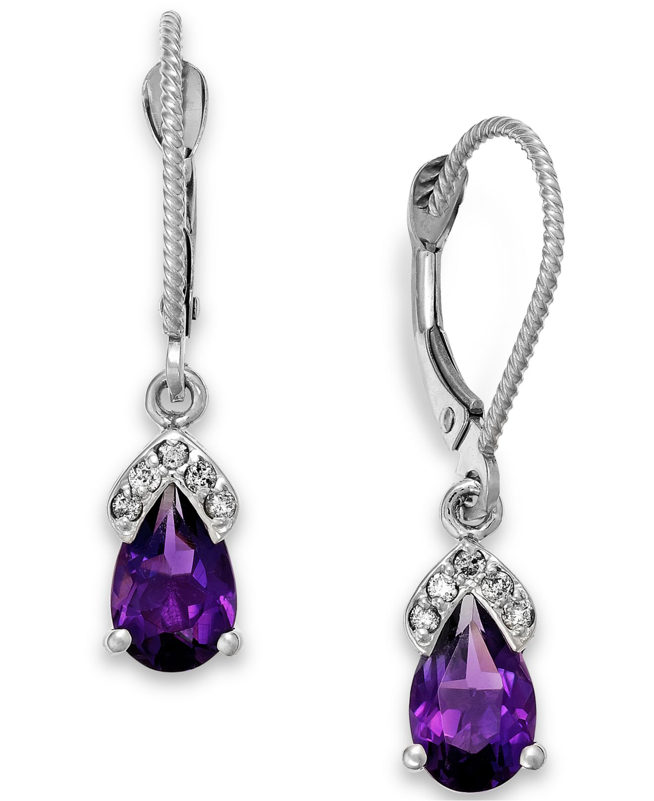 macys jewelry macy s amethyst 1 3 4 ct t w and accent 8573