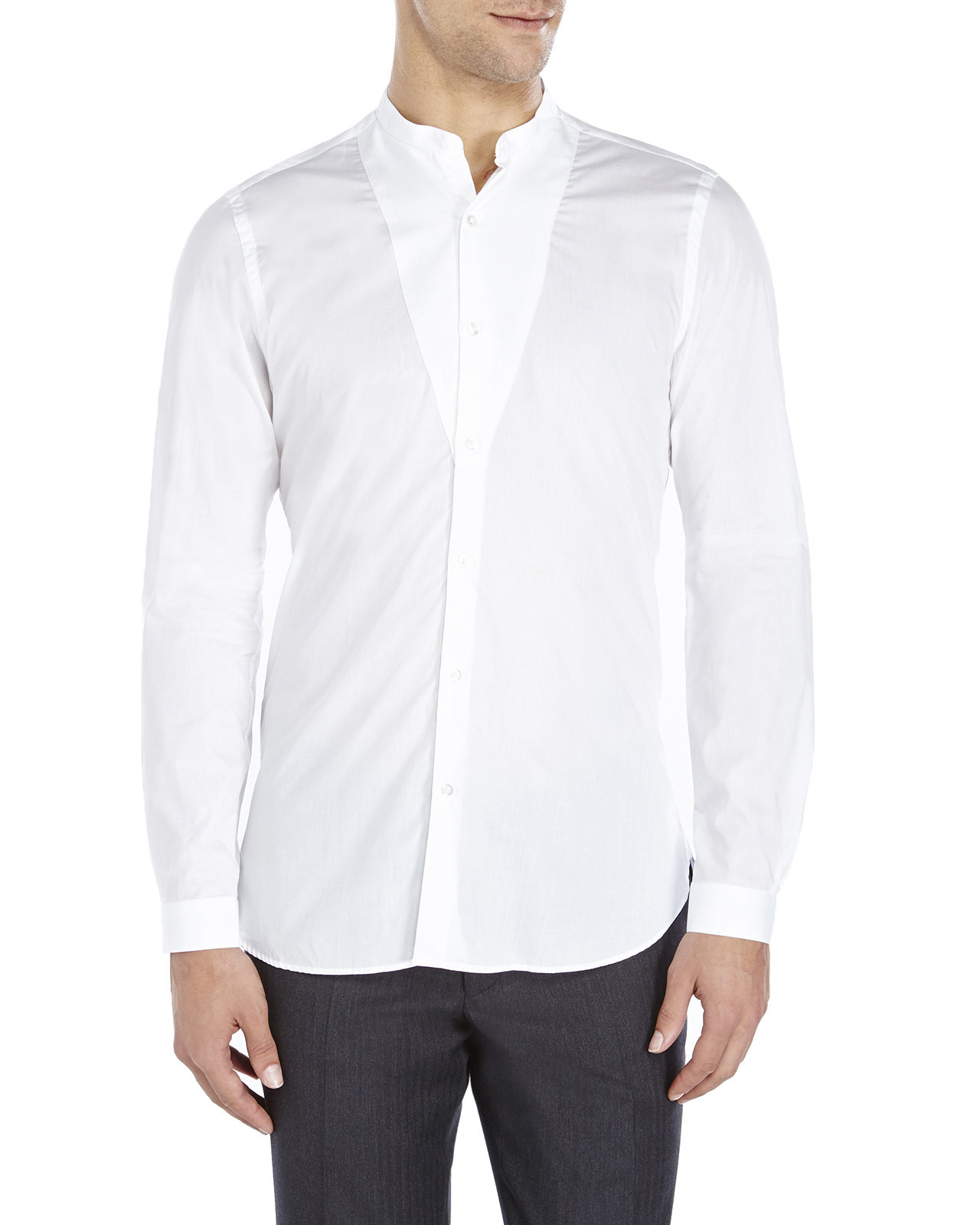 107f6136d4 The Kooples White Fitted Bib Sport Shirt in White for Men - Lyst