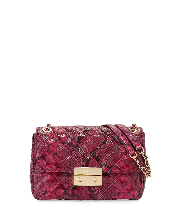 98dccdba3482c Lyst - MICHAEL Michael Kors Sloan Large Chain Leather Shoulder Bag ...