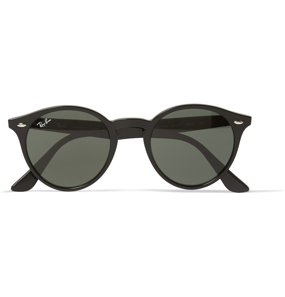 e58c0adf3b Ray-Ban 2180 Round-frame Acetate Sunglasses in Black for Men - Lyst