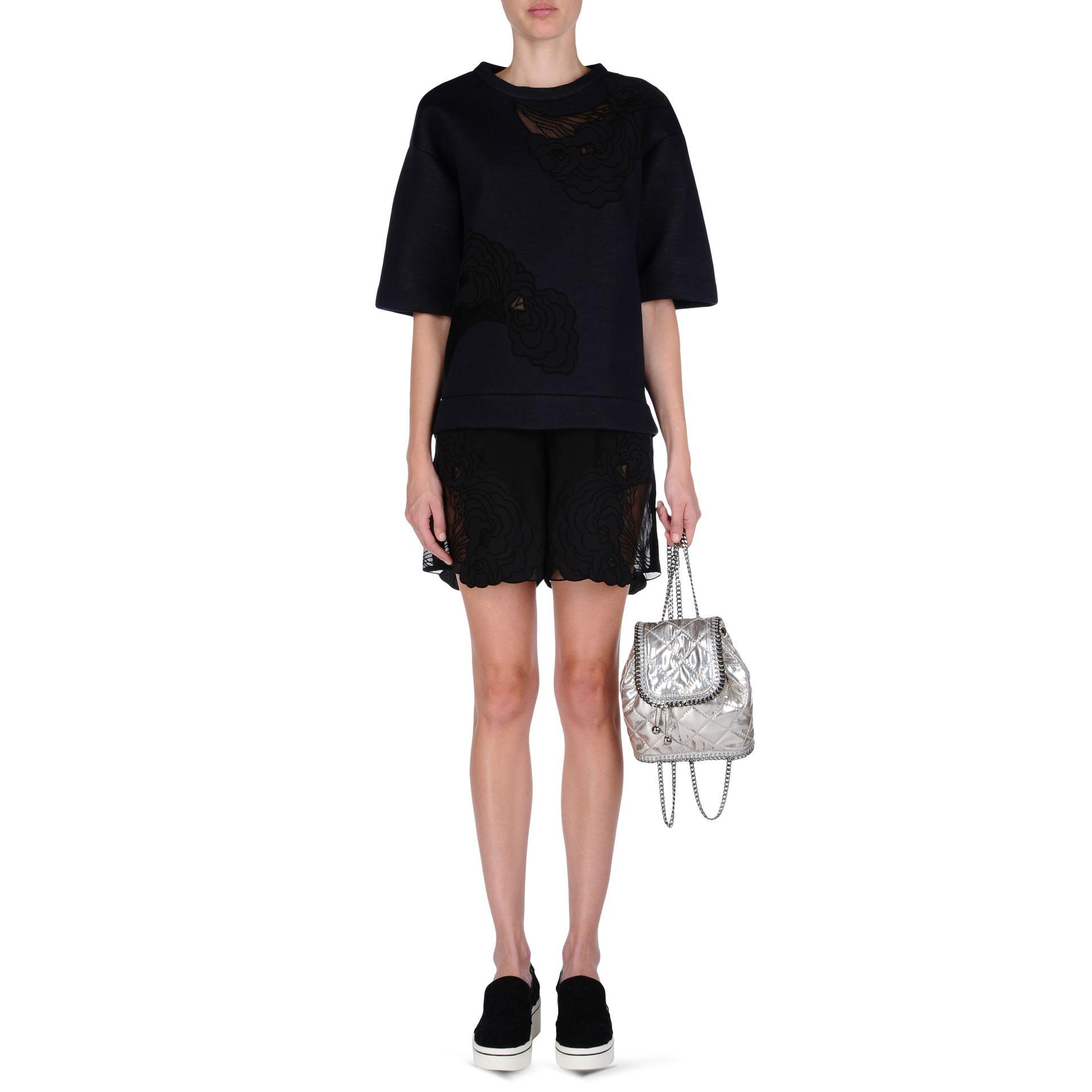 c5f36cb391 Lyst - Stella McCartney Falabella Quilted Metallic Mini Backpack in ...