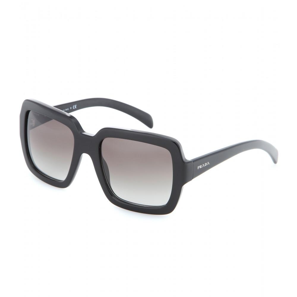 05024dbaf96 Prada Rectangular Logo Cream Frames Sunglasses