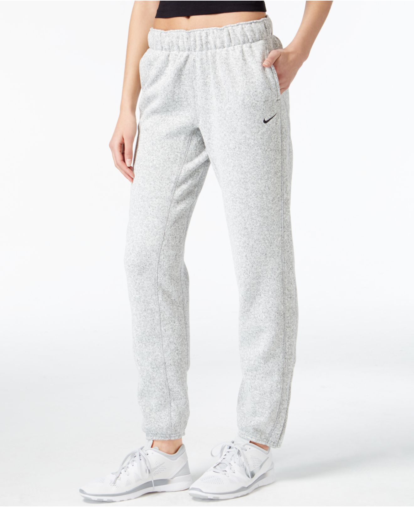 Lyst - Nike Hypernatural Therma-fit Sweat Pants in Gray 69d238e15