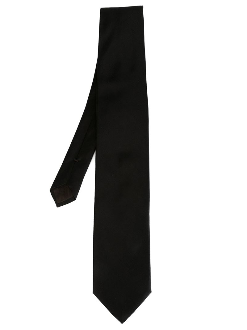 canali silk tie in black for lyst
