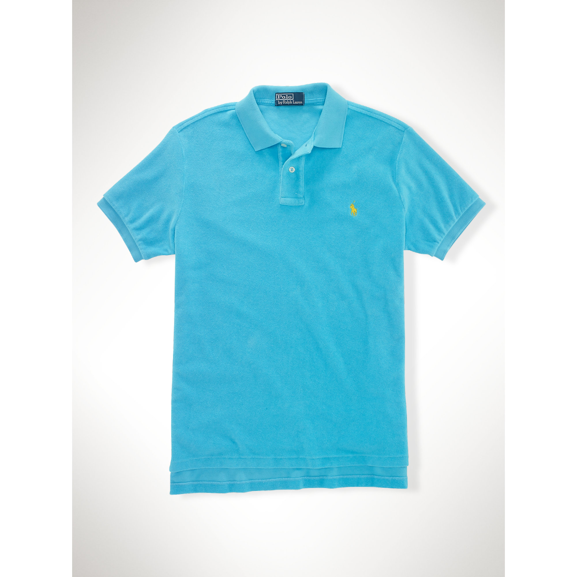 Lyst - Polo Ralph Lauren Custom-Fit Terry Cloth Polo in Blue for Men 15a937971dd5