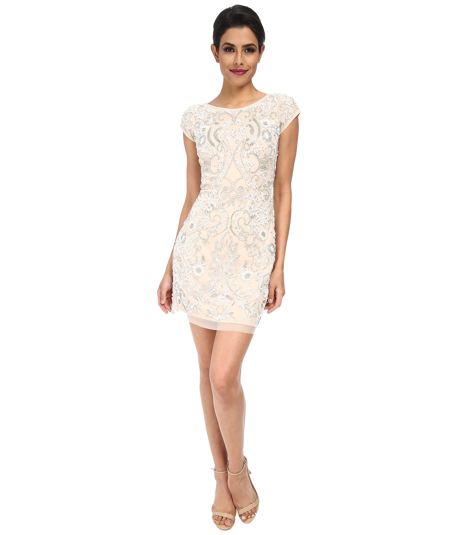 Beaded Cocktail Dresses with Sleeves