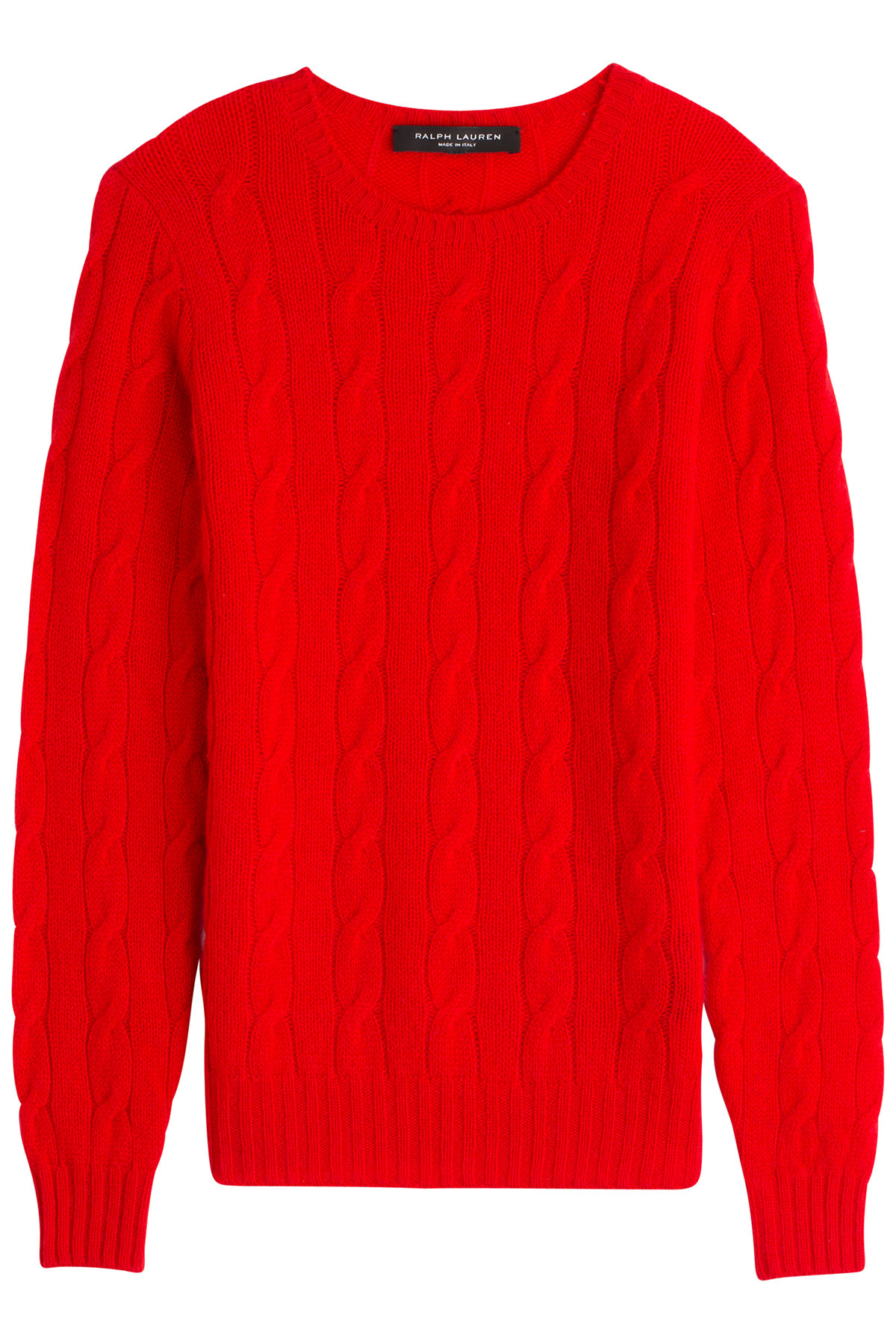 ralph lauren black label cashmere cable knit pullover red in red lyst. Black Bedroom Furniture Sets. Home Design Ideas