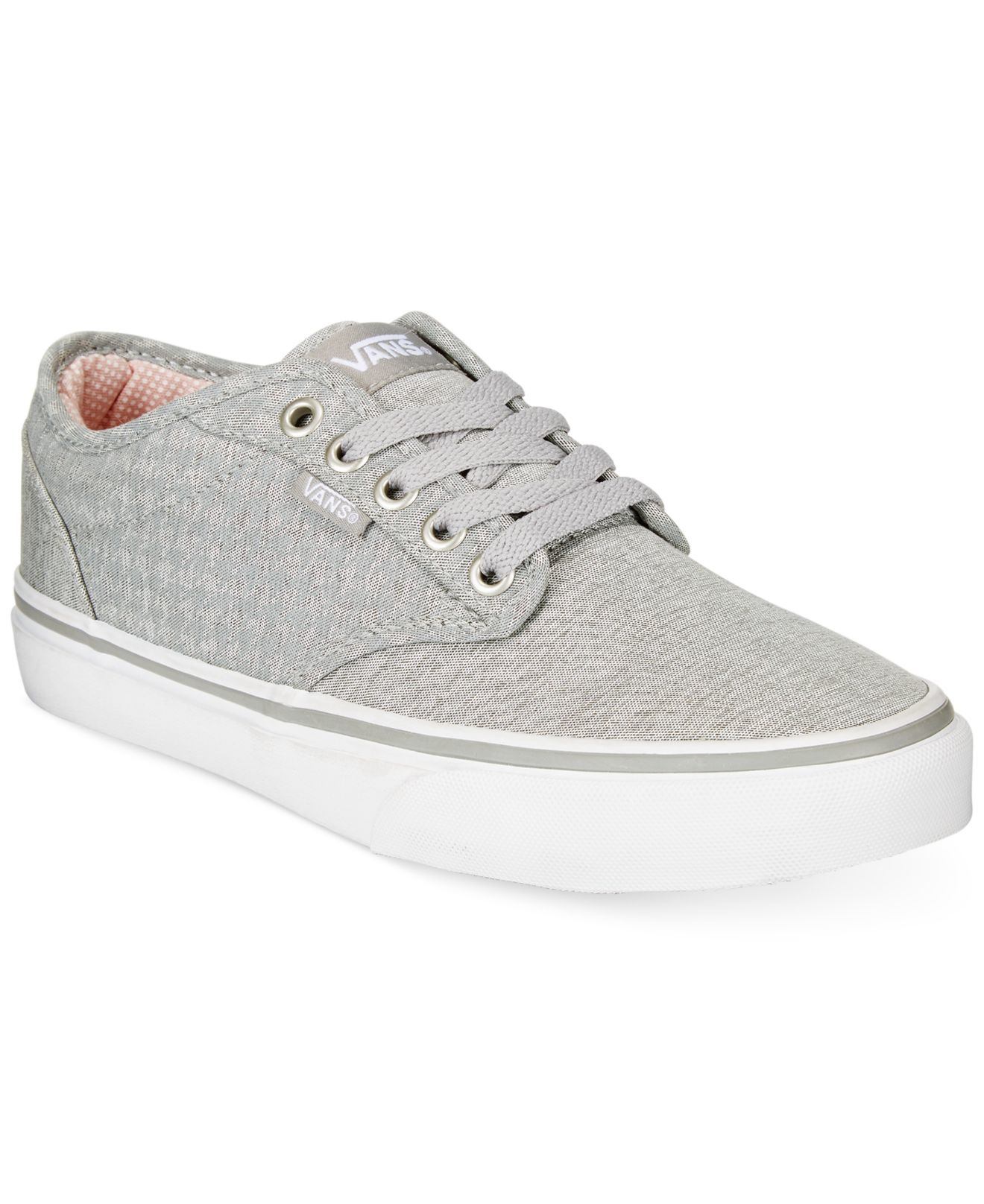 Lyst - Vans Women s Atwood Lace-up Sneakers in Gray 29e1610ef