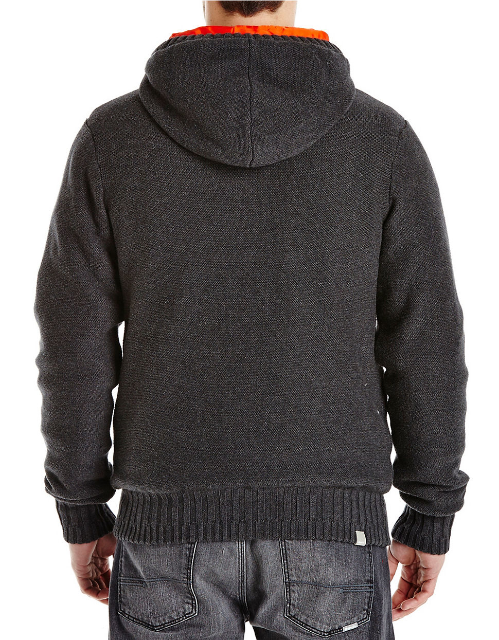 Bench hooded knit jacket in black for men lyst Bench jacket