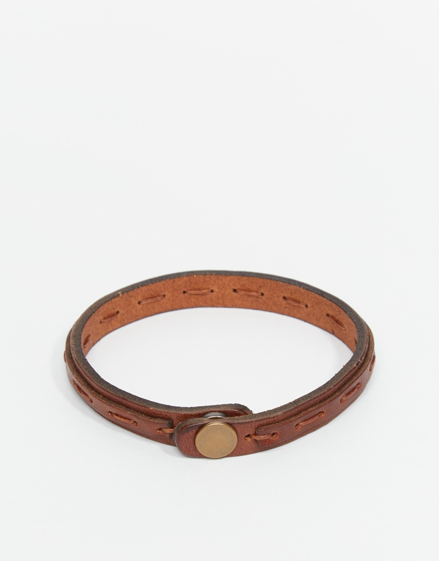 153ce1dd03d2 Jack & Jones Leather Bracelet in Brown for Men - Lyst
