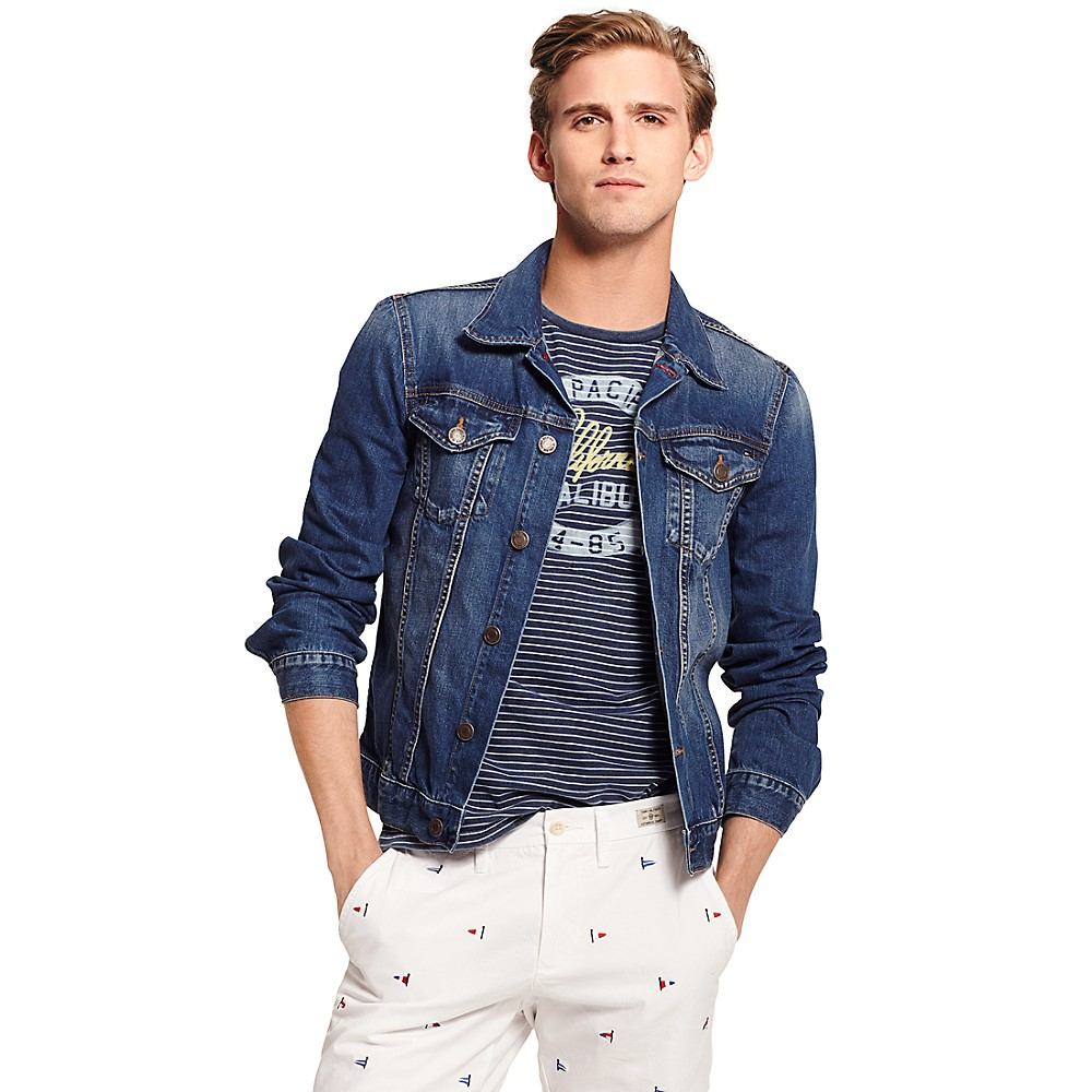 Tommy Hilfiger Denim Jacket in Blue for Men (LEADBETTER WORN) | Lyst