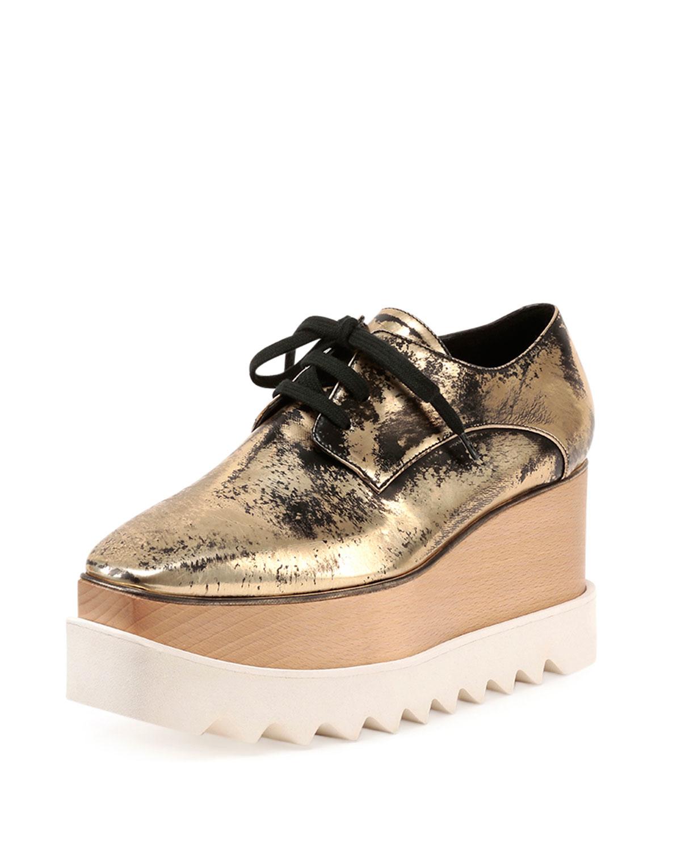 Stella Mccartney Paillettes Eylse Chaussures Plate-forme - Métallique t9p2w
