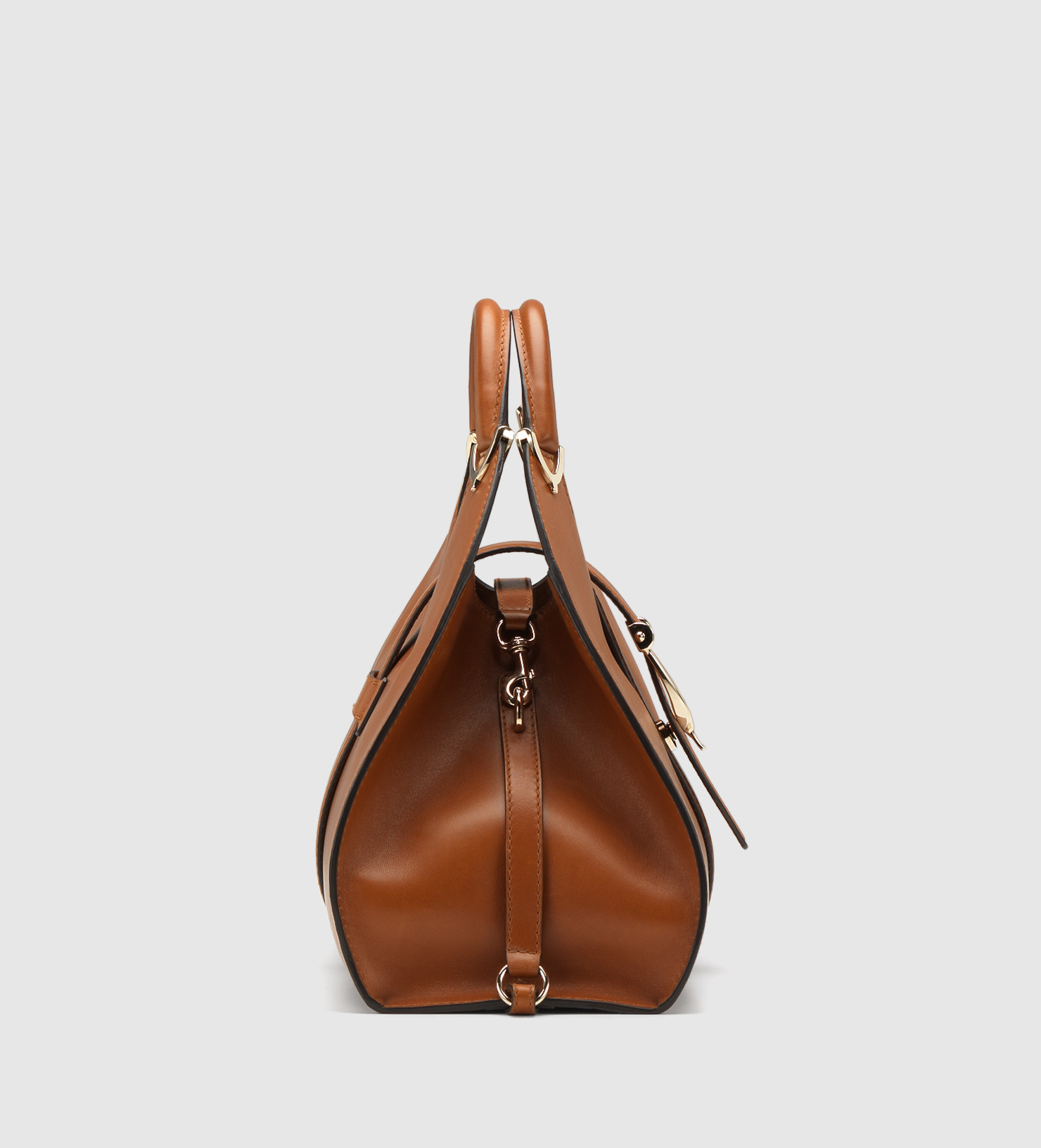 626f224f9 Gucci Stirrup Leather Shoulder Bag in Brown - Lyst