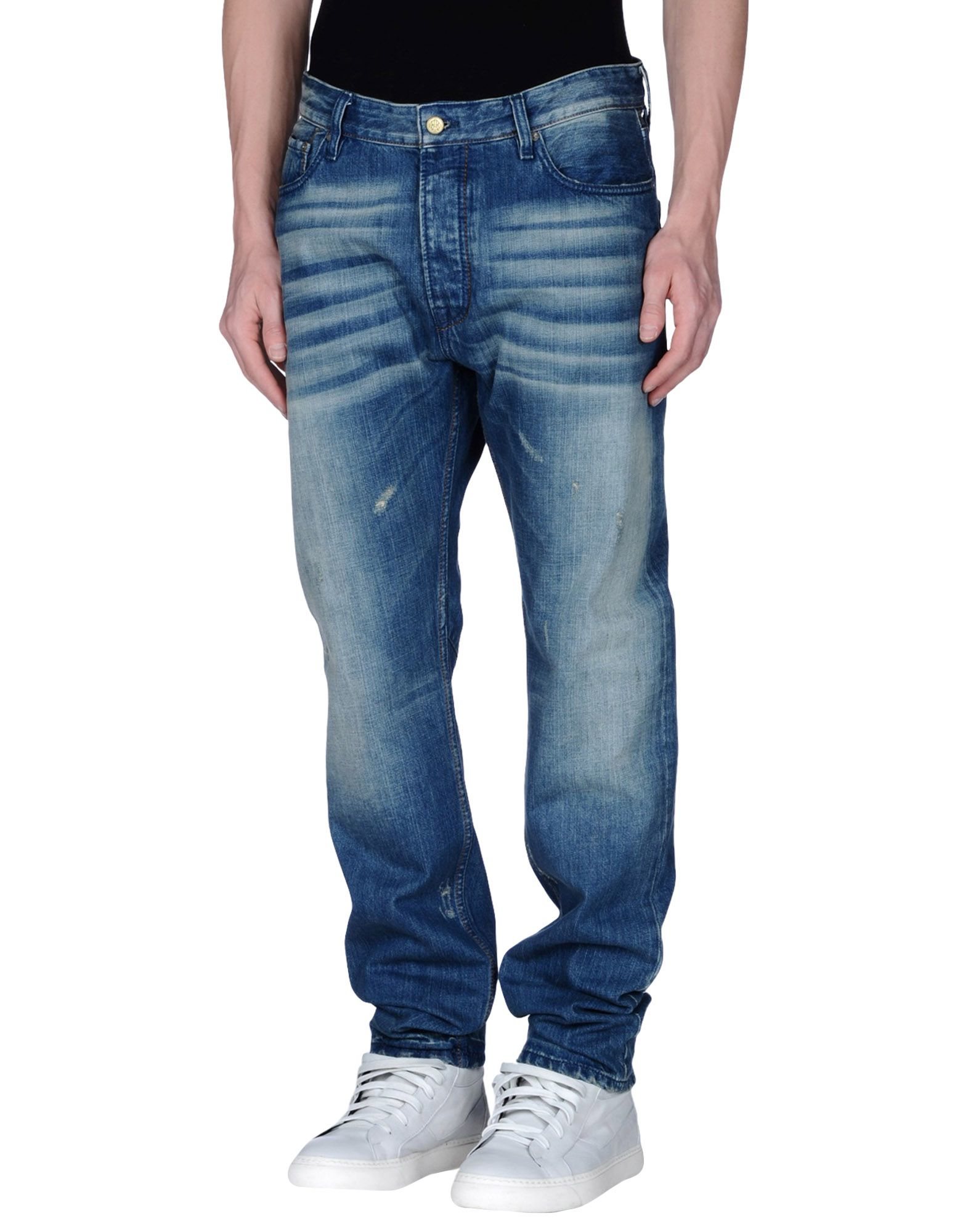 scotch soda denim trousers in blue for men lyst. Black Bedroom Furniture Sets. Home Design Ideas