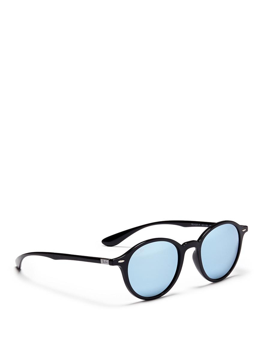 ray ban black mirrored aviators zjsj  ray ban rounded aviator sunglasses womens mirror