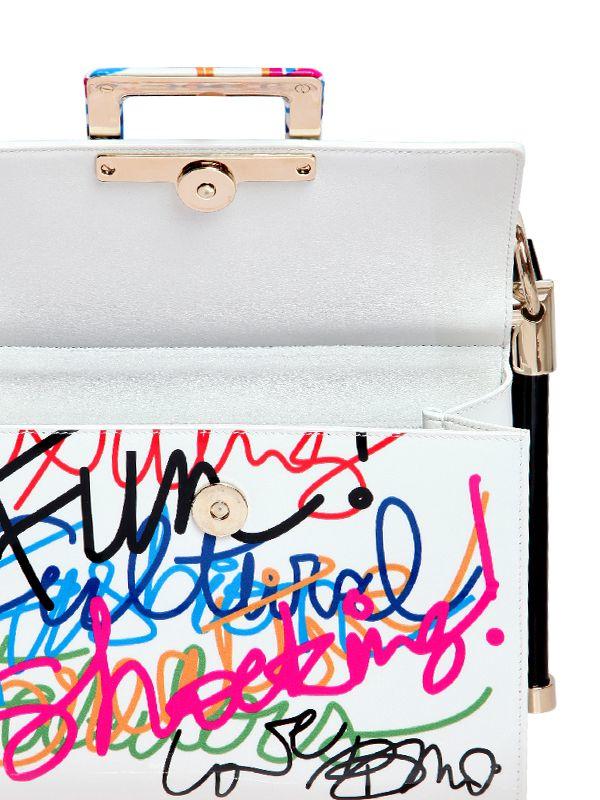 913e151da5d7 Roger Vivier Miss Viv Graffiti Patent Leather Bag - Lyst