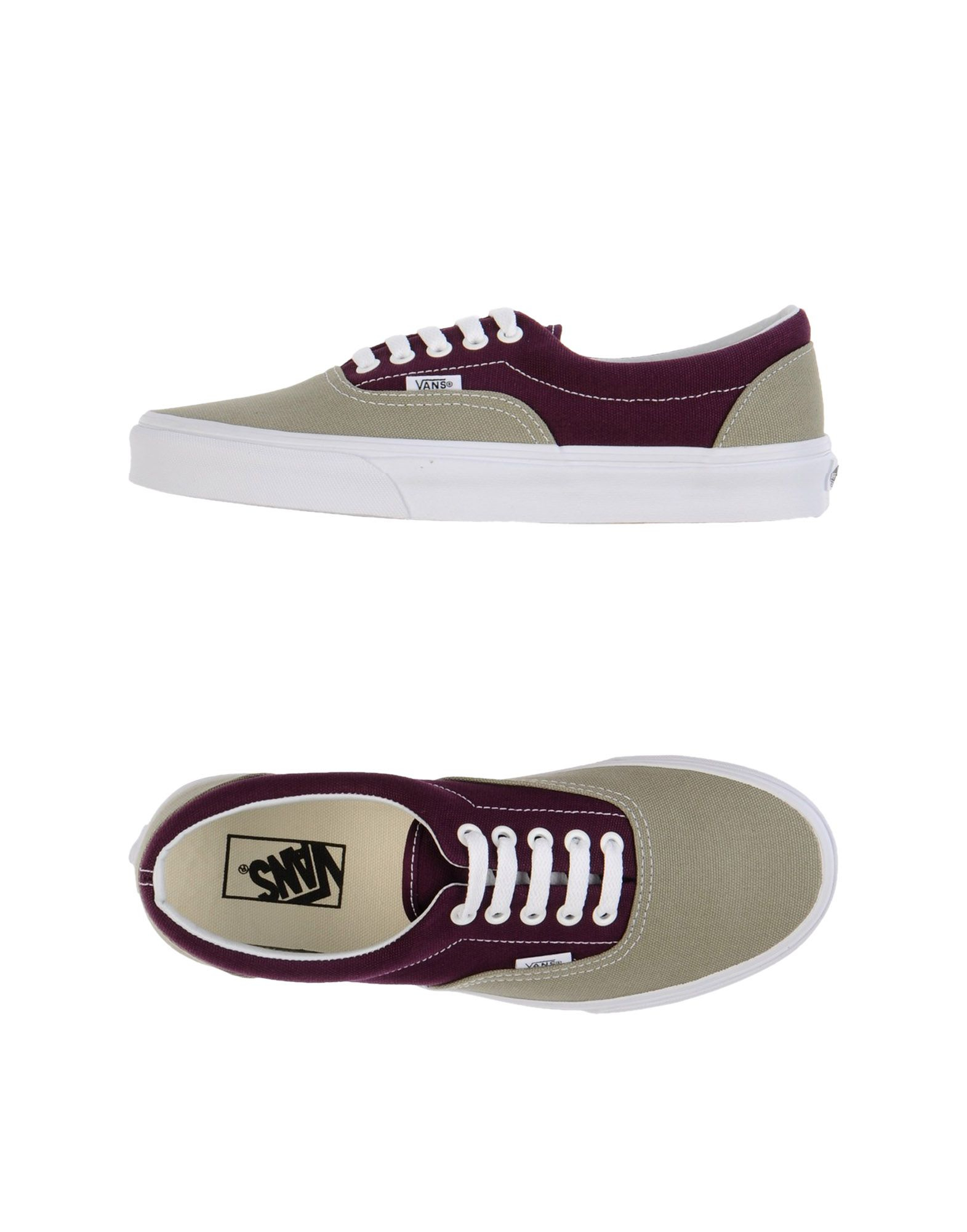vans low tops trainers in khaki for men lyst. Black Bedroom Furniture Sets. Home Design Ideas