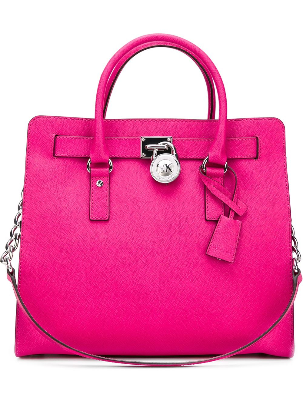 Lyst Michael Michael Kors Large Hamilton Tote In Pink