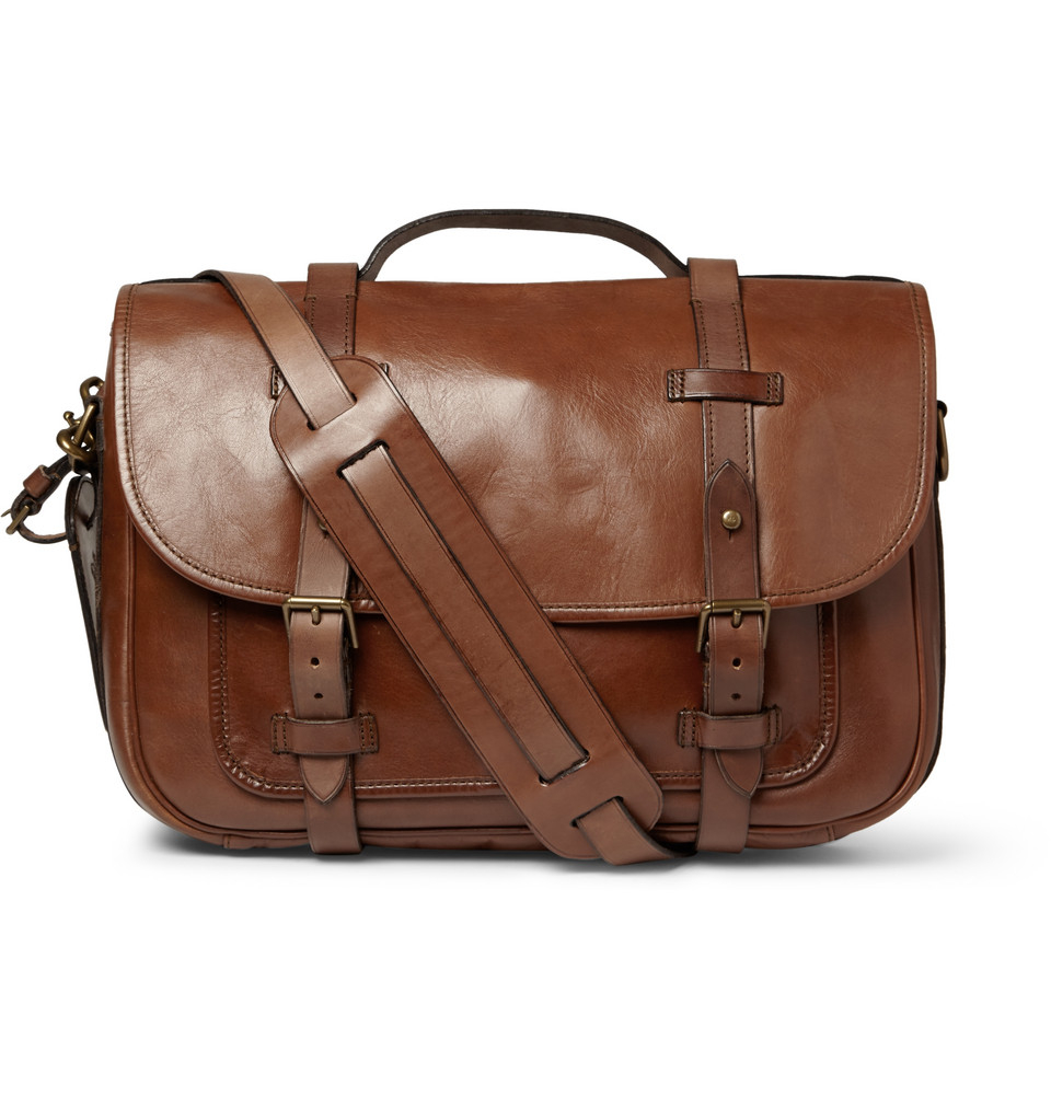 80baed991b81 Lyst - Polo Ralph Lauren Leather Messenger Bag in Brown for Men