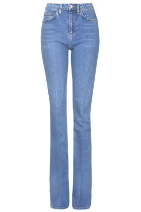 Topshop Tall Moto Tally Flare Jeans in Blue | Lyst