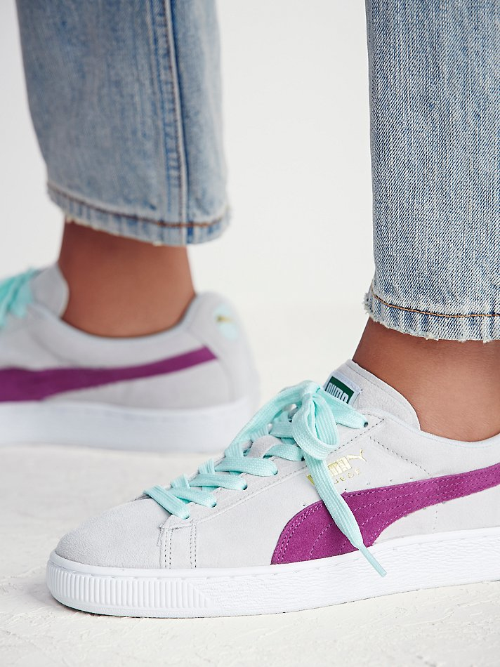 75c33b1a8ae Free People Puma Womens Suede Classic Sneaker in Gray - Lyst