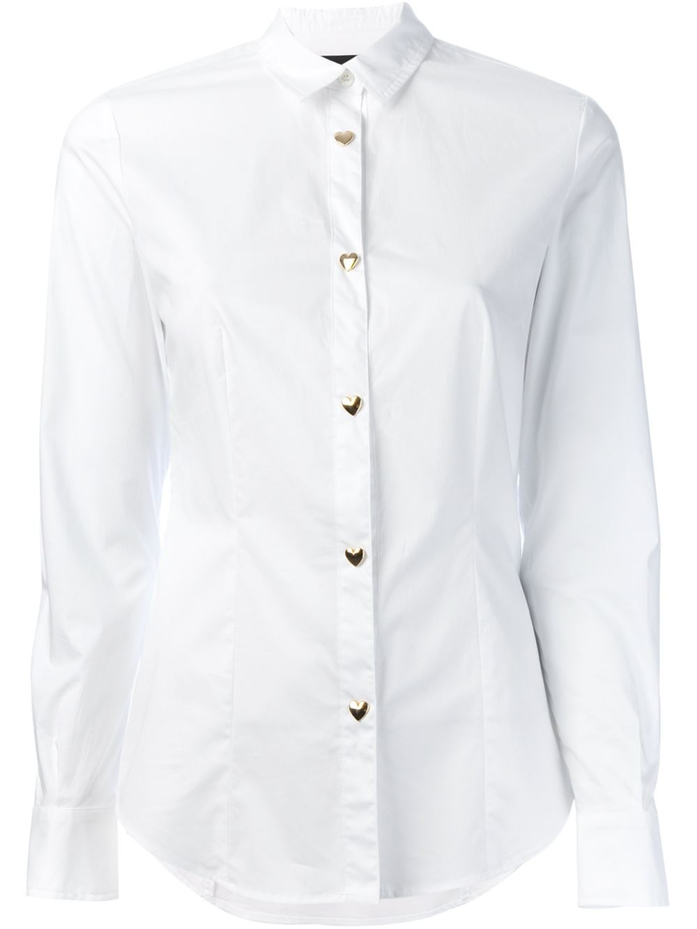 White Shirt With Gold Buttons Custom Shirt