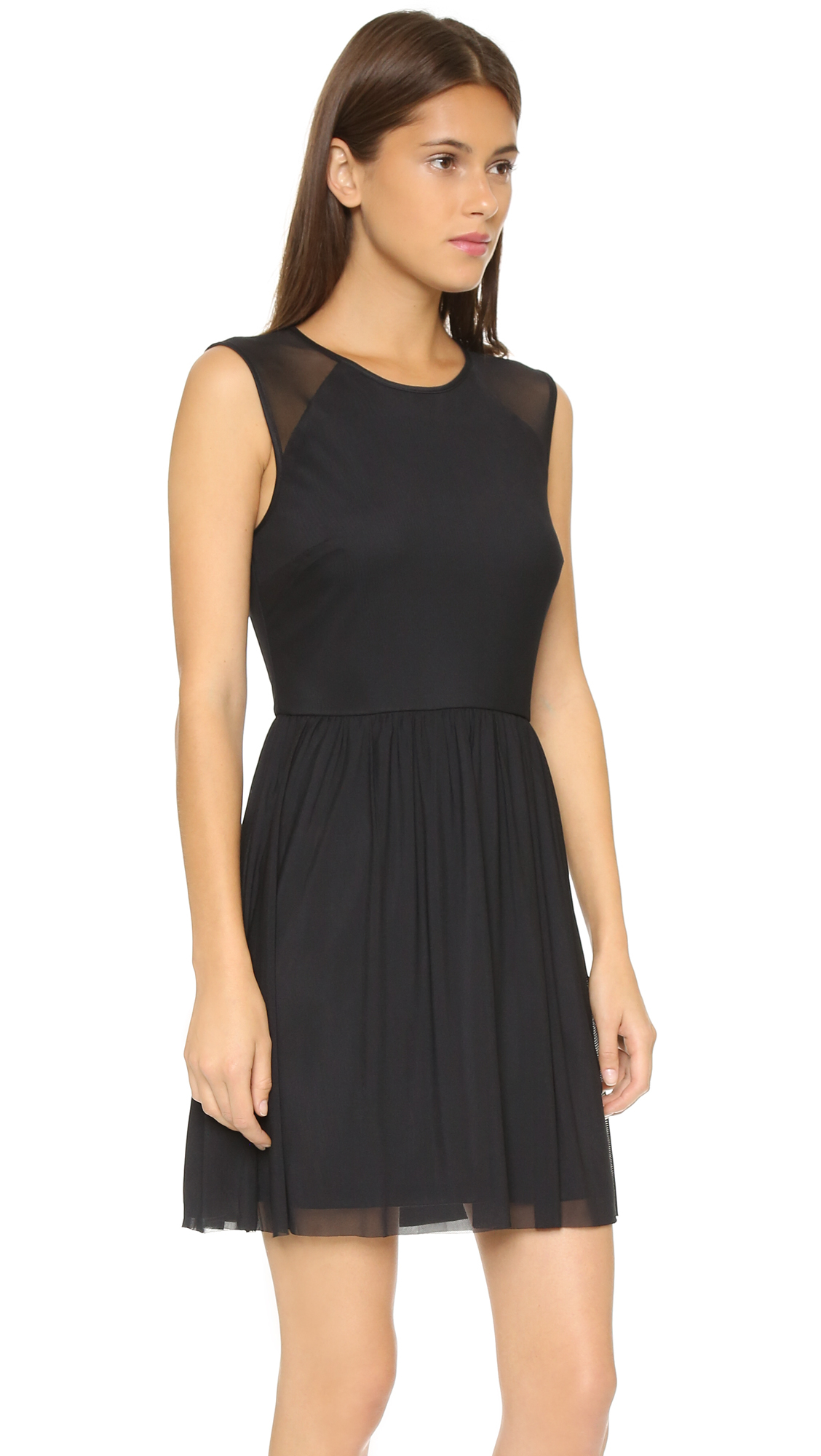 Bb dakota Jack By Eva Mesh Dress - Black in Black | Lyst