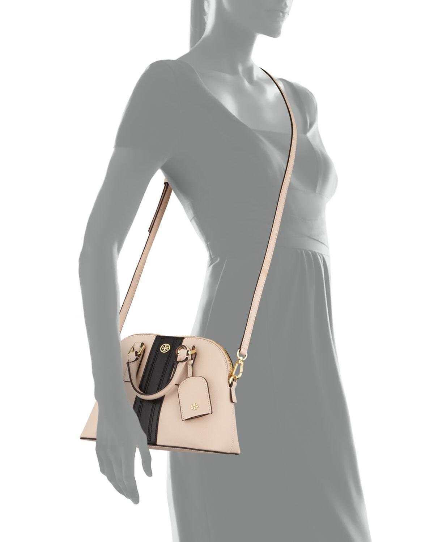 Lyst - Shoshanna Robinson Stripe Mini Domed Crossbody Bag in Pink 4114719799