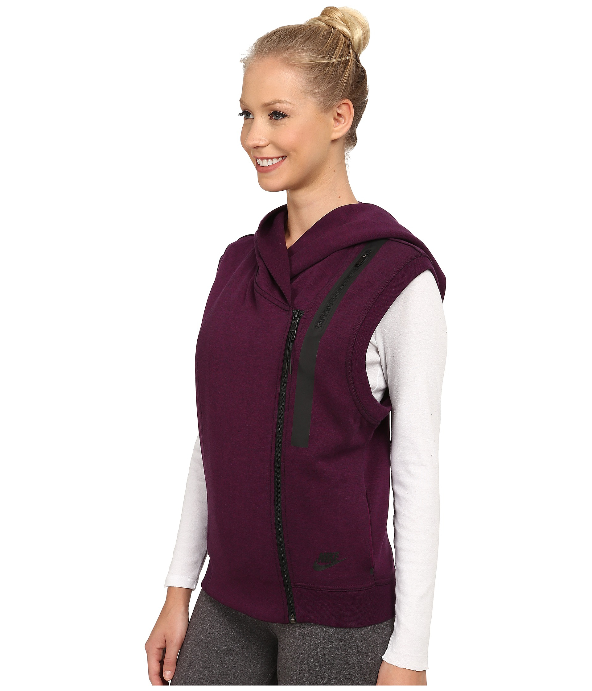 bbc3fde4c60b Lyst - Nike Tech Fleece Vest in Purple