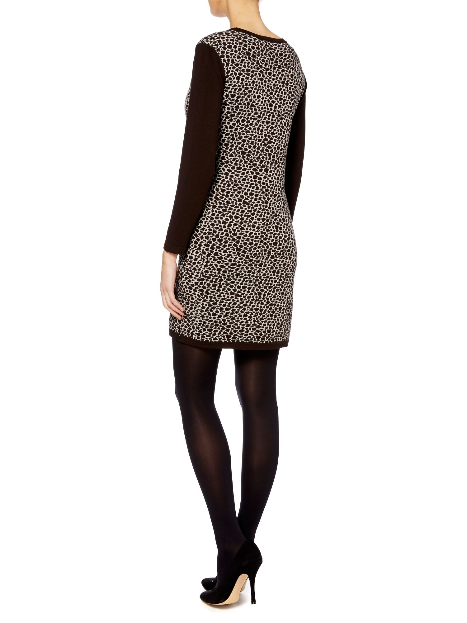 Weekend by maxmara Ussita Long Sleeved Animal Print Dress  Lyst