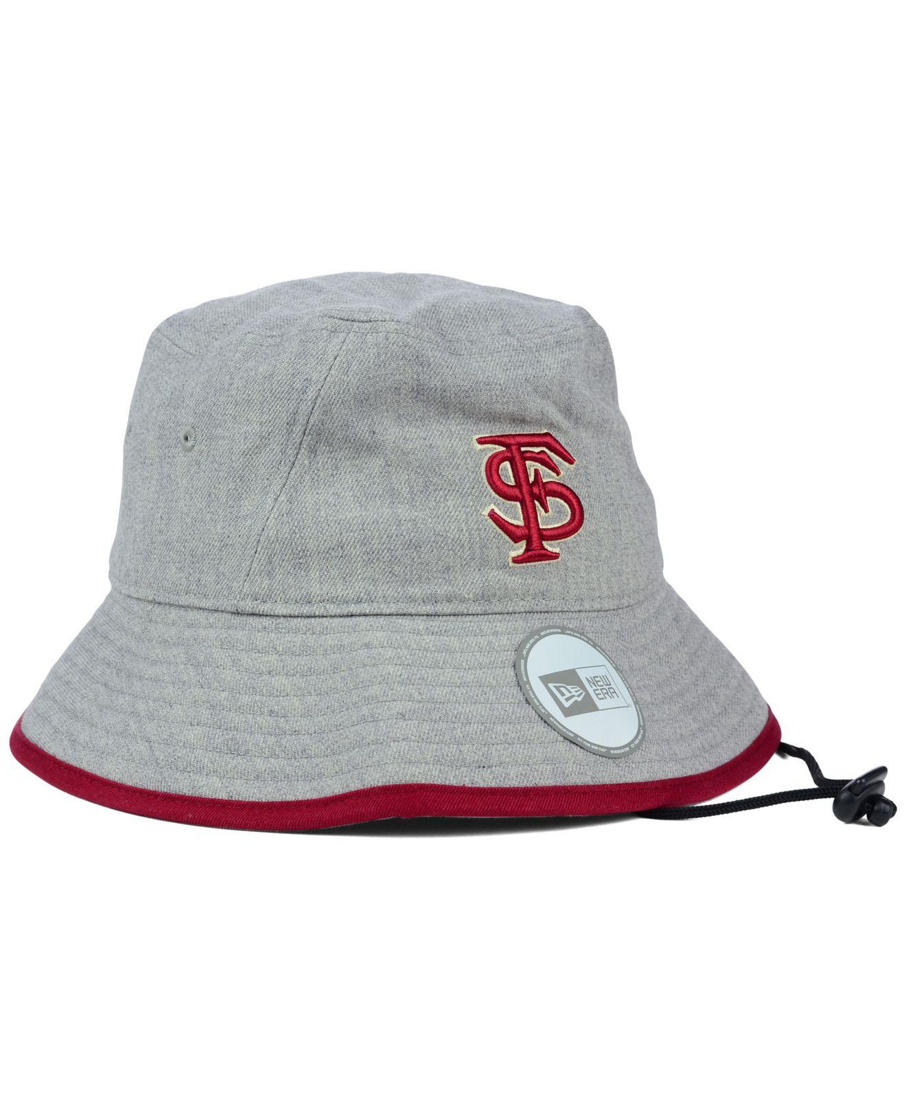 Lyst - KTZ Florida State Seminoles Tip Bucket Hat in Gray 8b4147b33f8