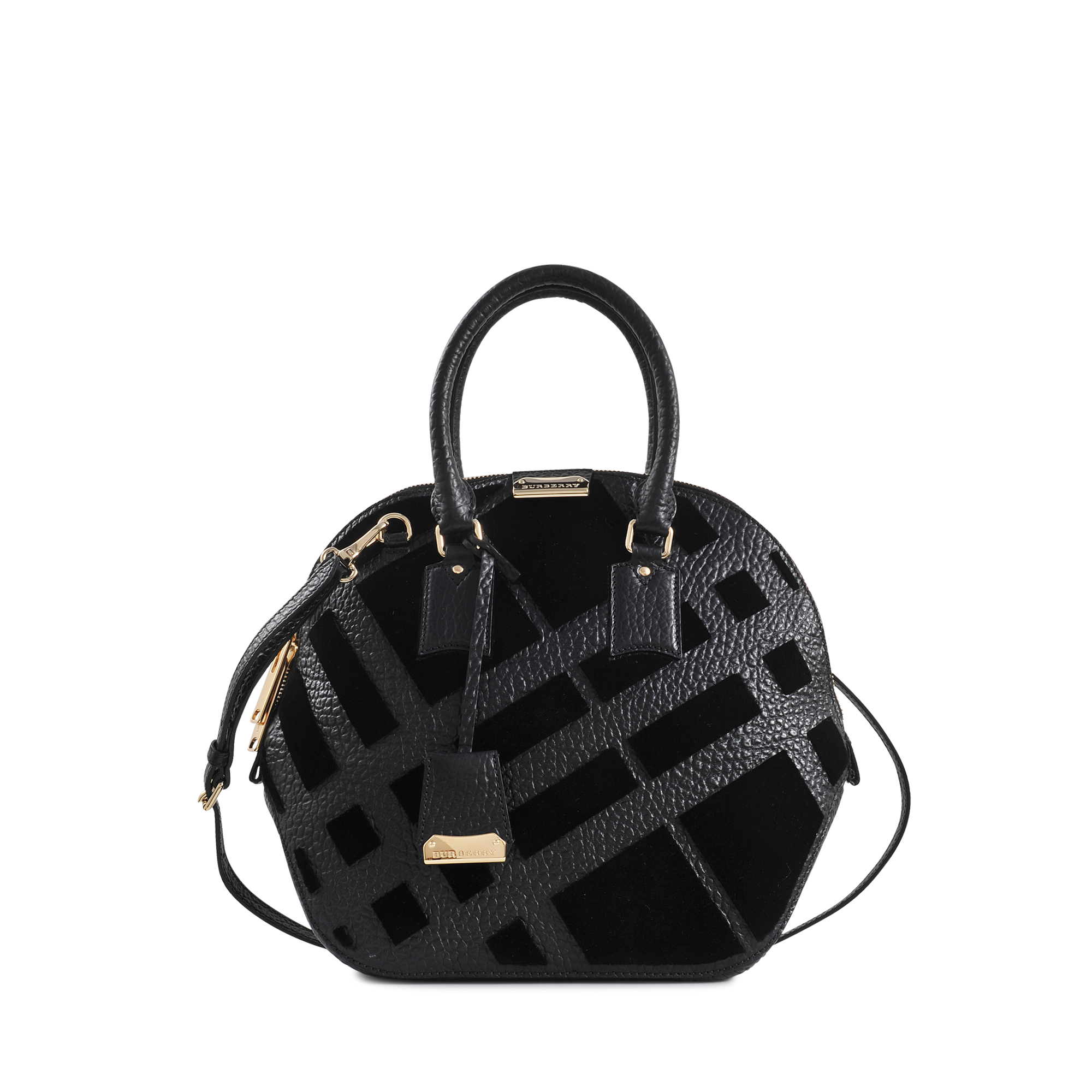 69b2cd98a000 Burberry Md Orchard Signature Grain Bag in Black - Lyst