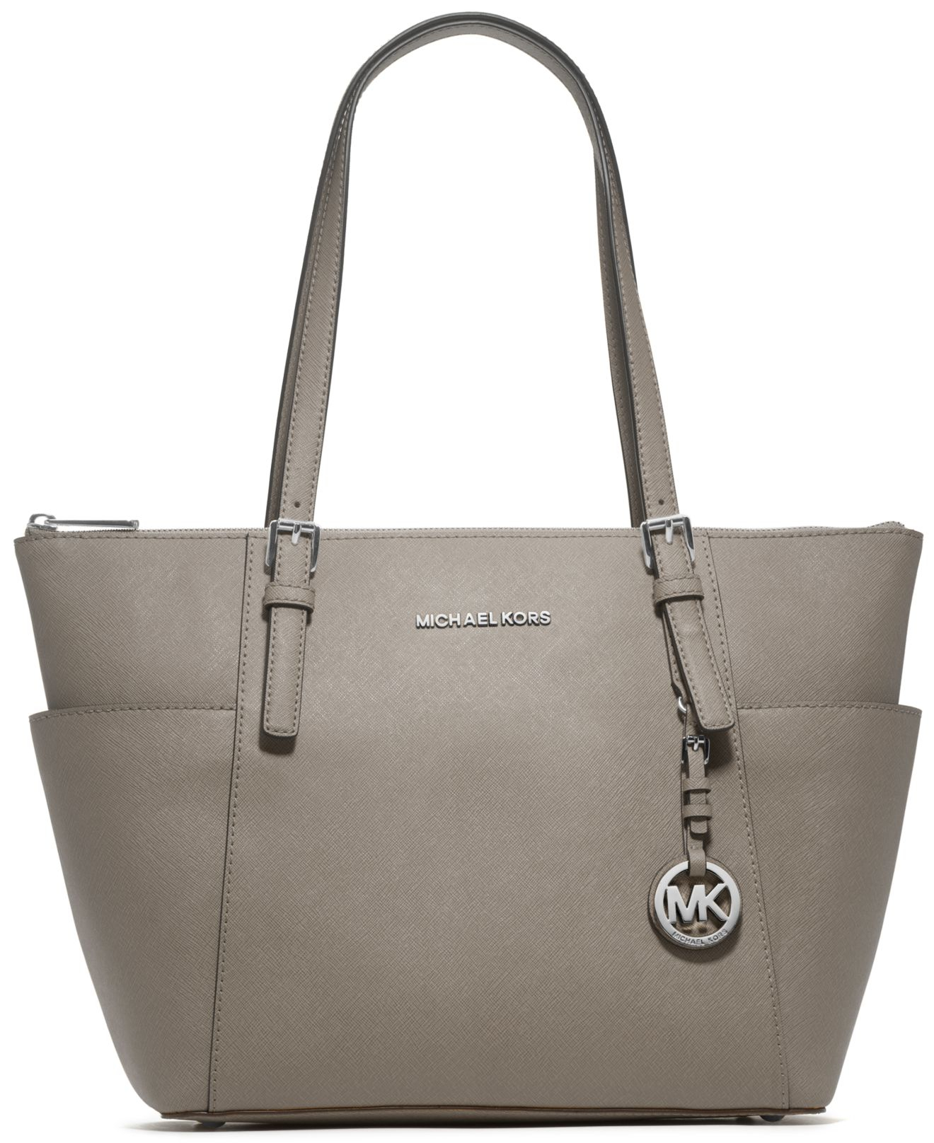 aac5633486 Lyst - Michael Kors Michael Jet Set Large Crossgrain Leather Tote in ...